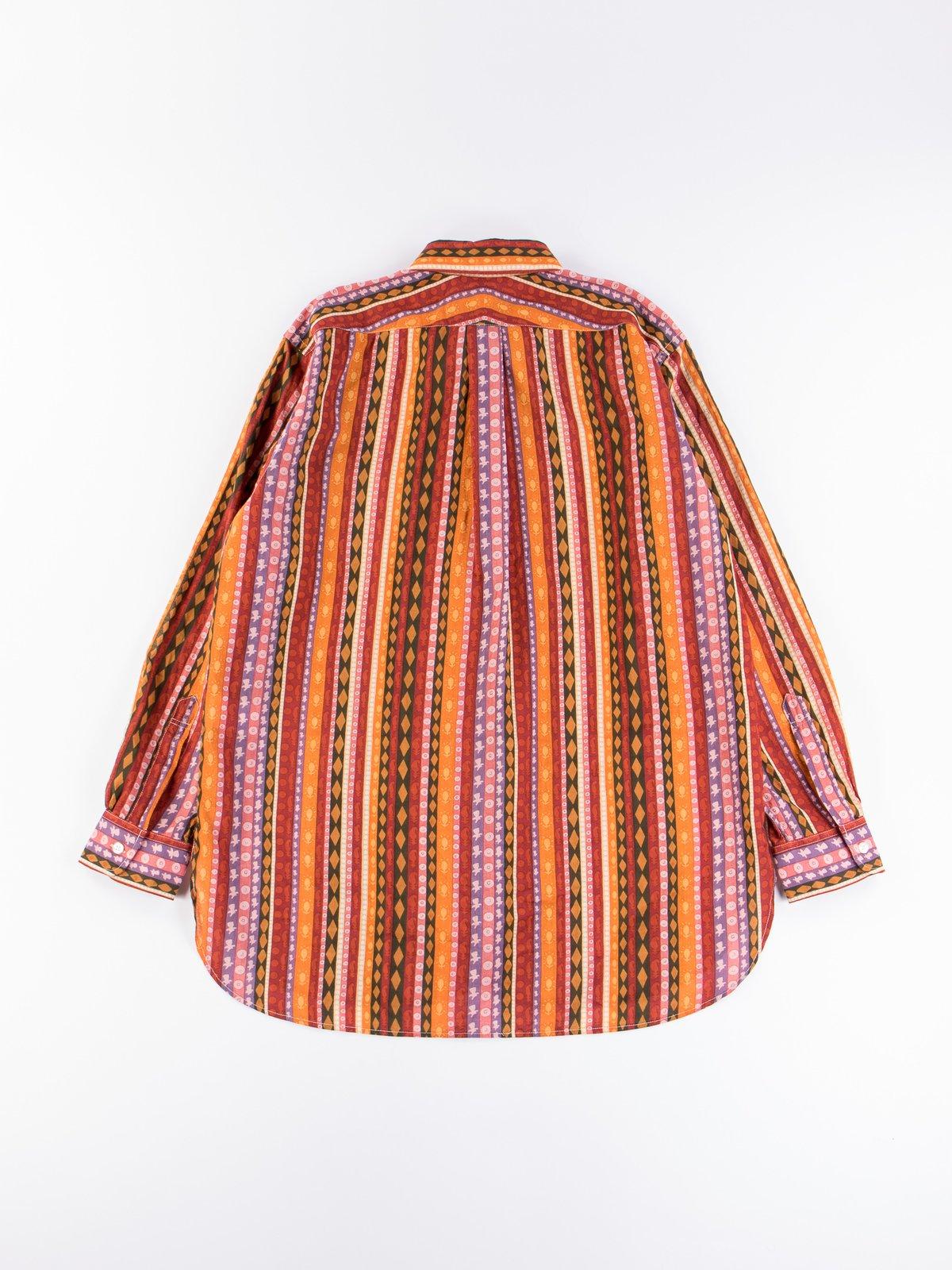 Orange Cotton Lawn Batik Stripe 19th Century BD Shirt - Image 6