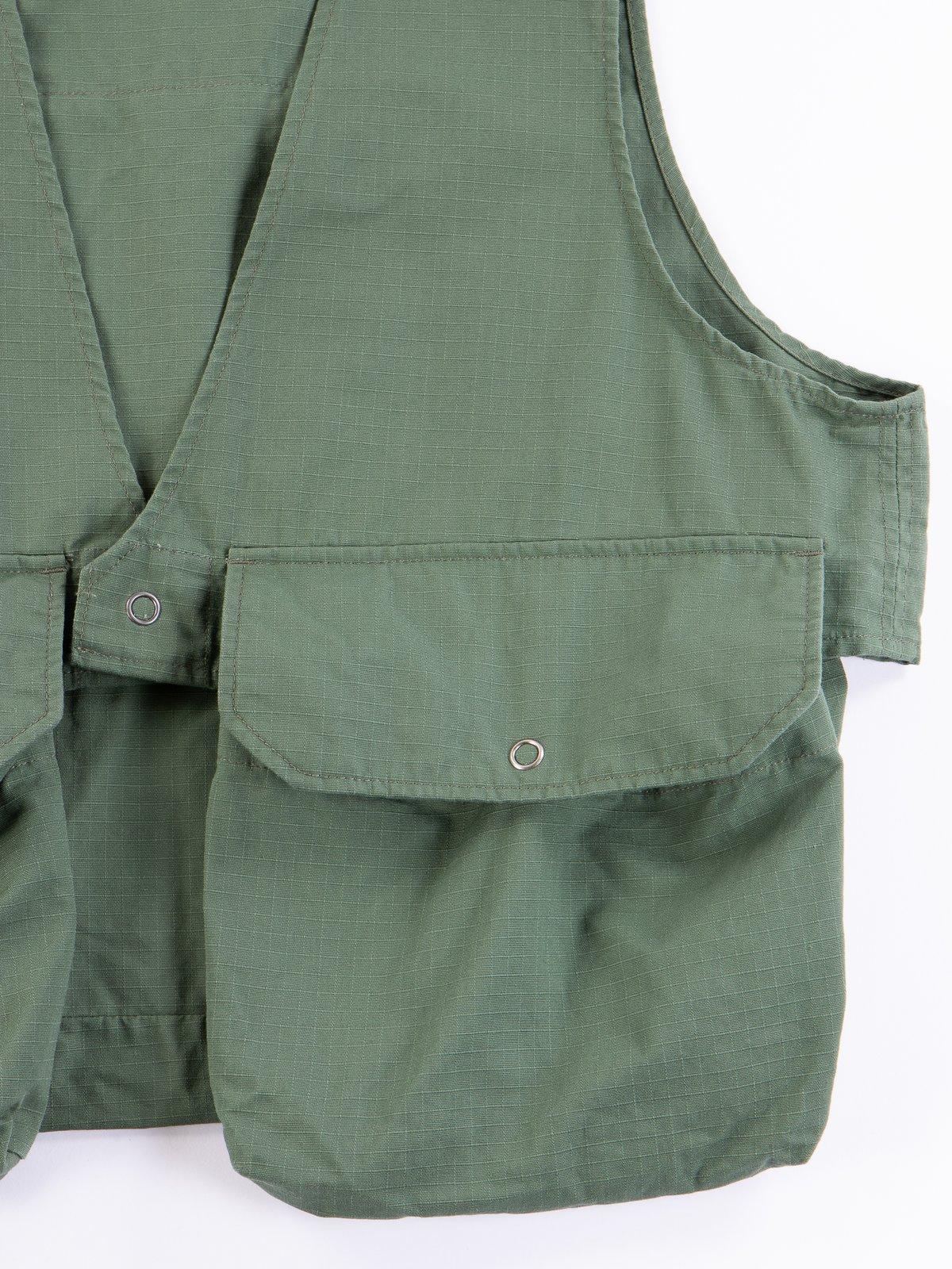 Olive Cotton Ripstop Fowl Vest - Image 4