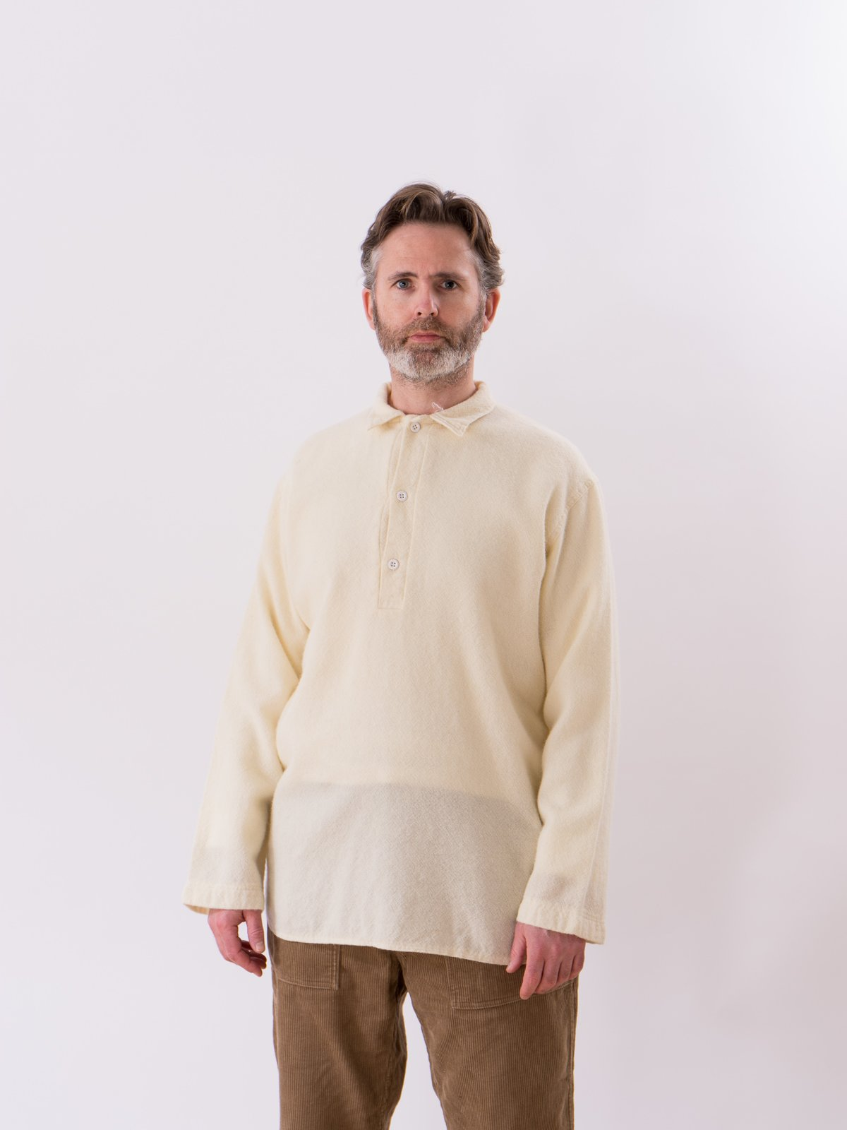 Cream Weavers Stock Pullover Tail Shirt - Image 2