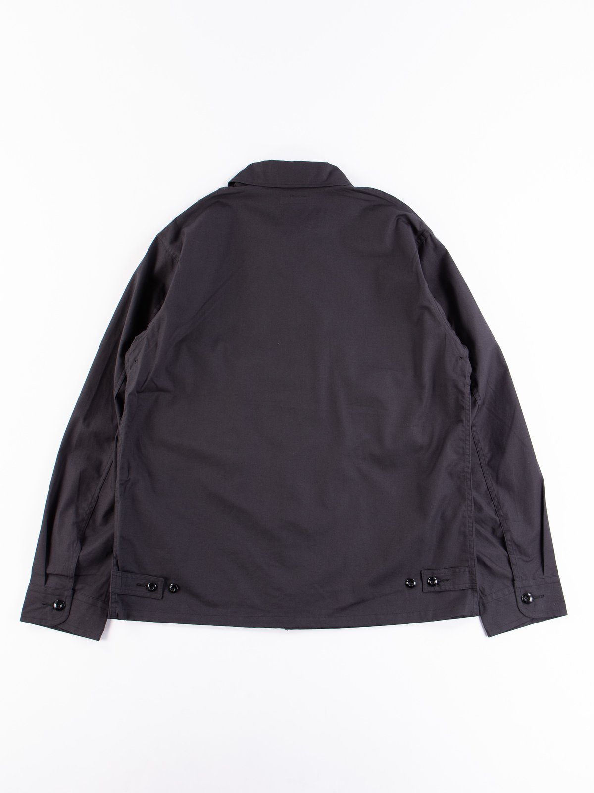 Fade Black Selvedge Poplin Cotton Combat Short Jacket - Image 5