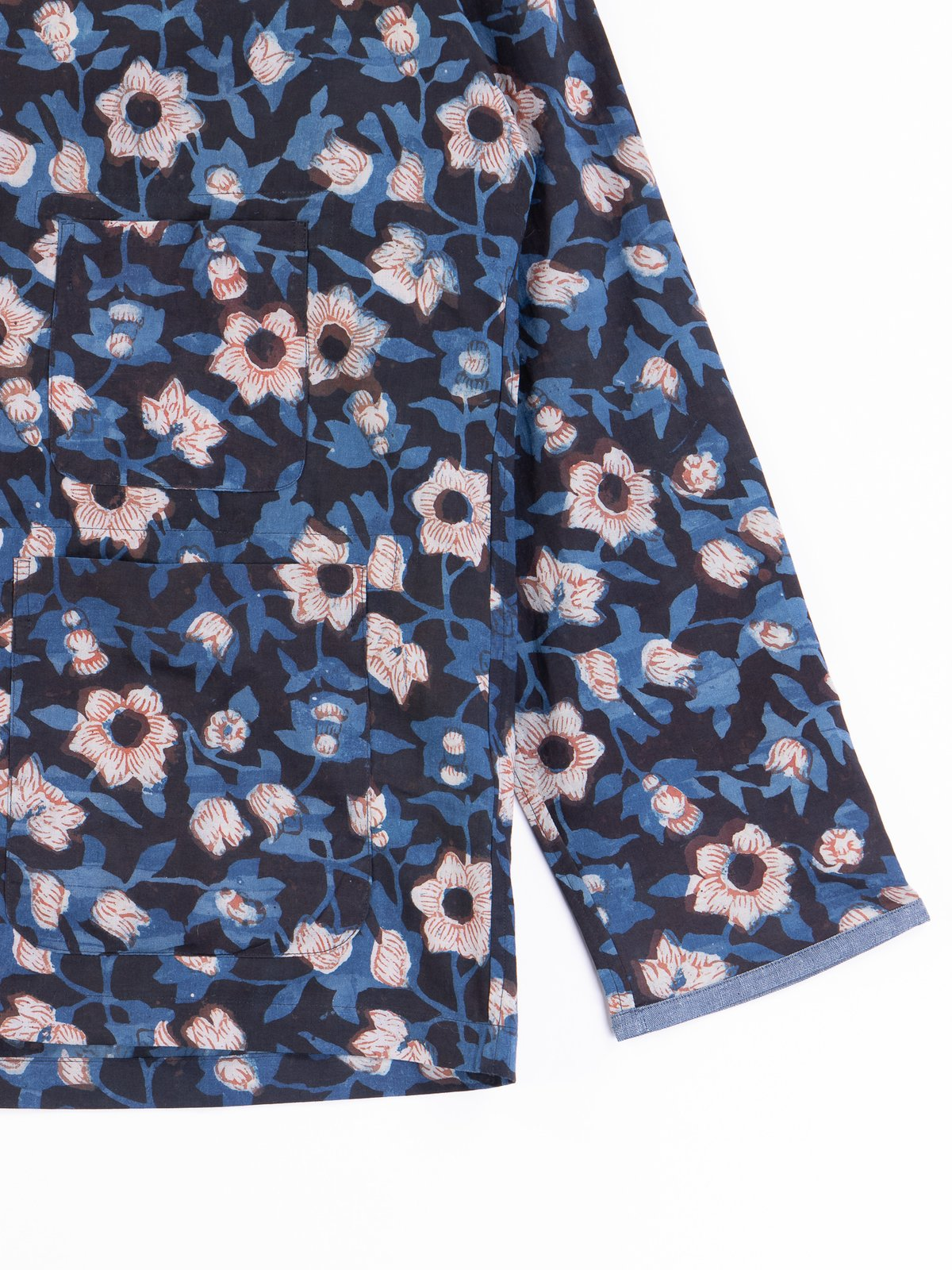 Indigo Flower Indian Print EZ–JACIII Jacket - Image 3