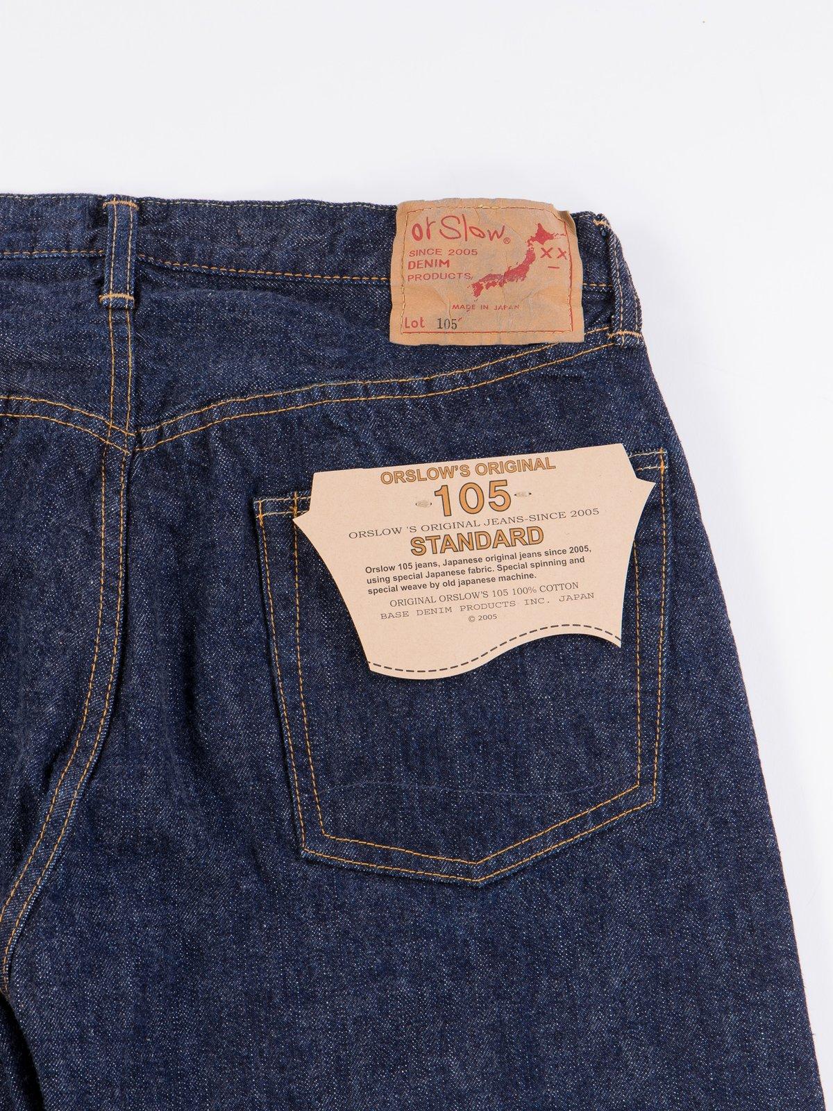 Indigo One Wash 105 Standard 5 Pocket Jean - Image 7