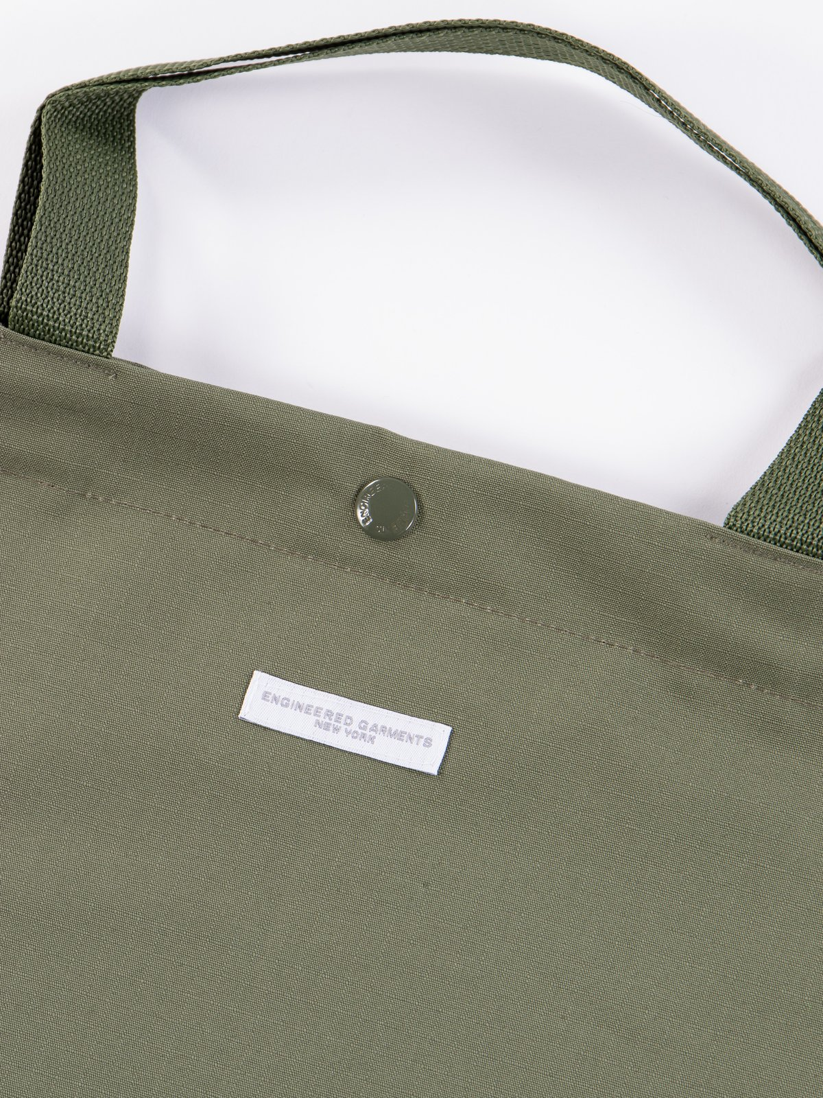 Olive Cotton Ripstop Carry All Tote - Image 2