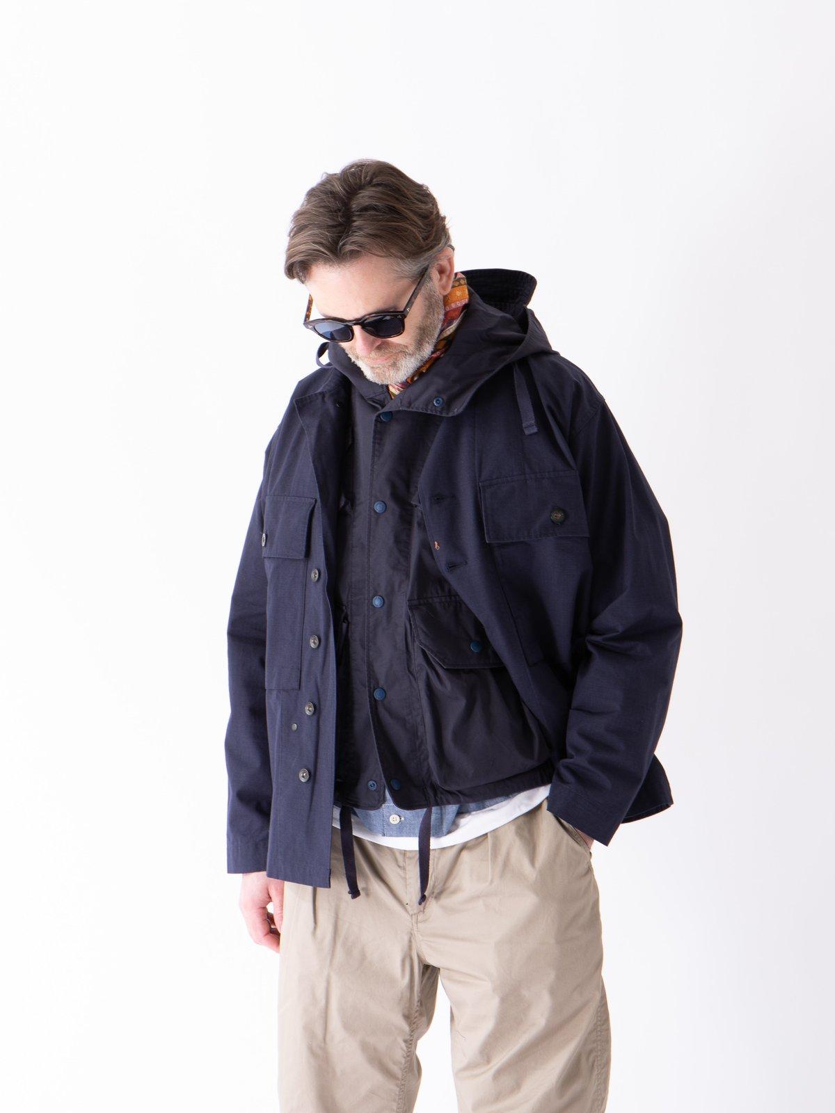 Dark Navy Cotton Ripstop M43/2 Shirt Jacket - Image 3