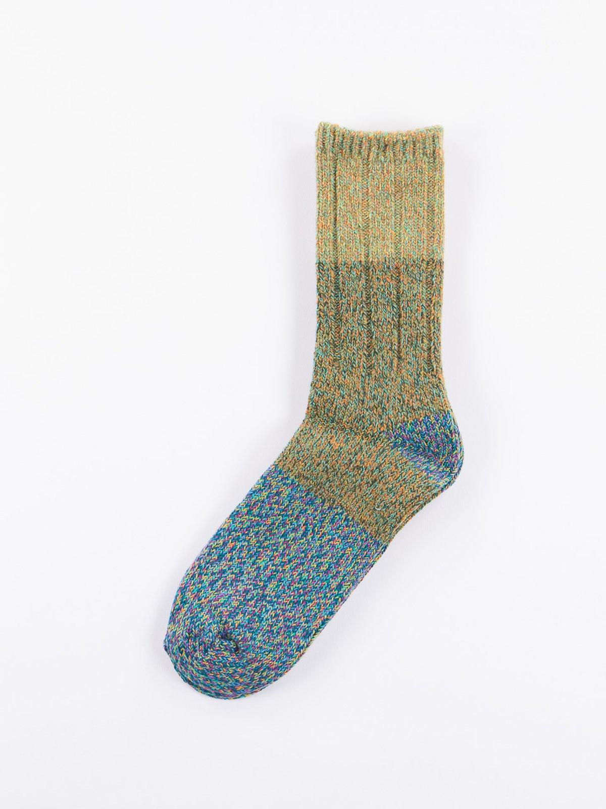 Light Green Van Gogh Wool Socks - Image 1