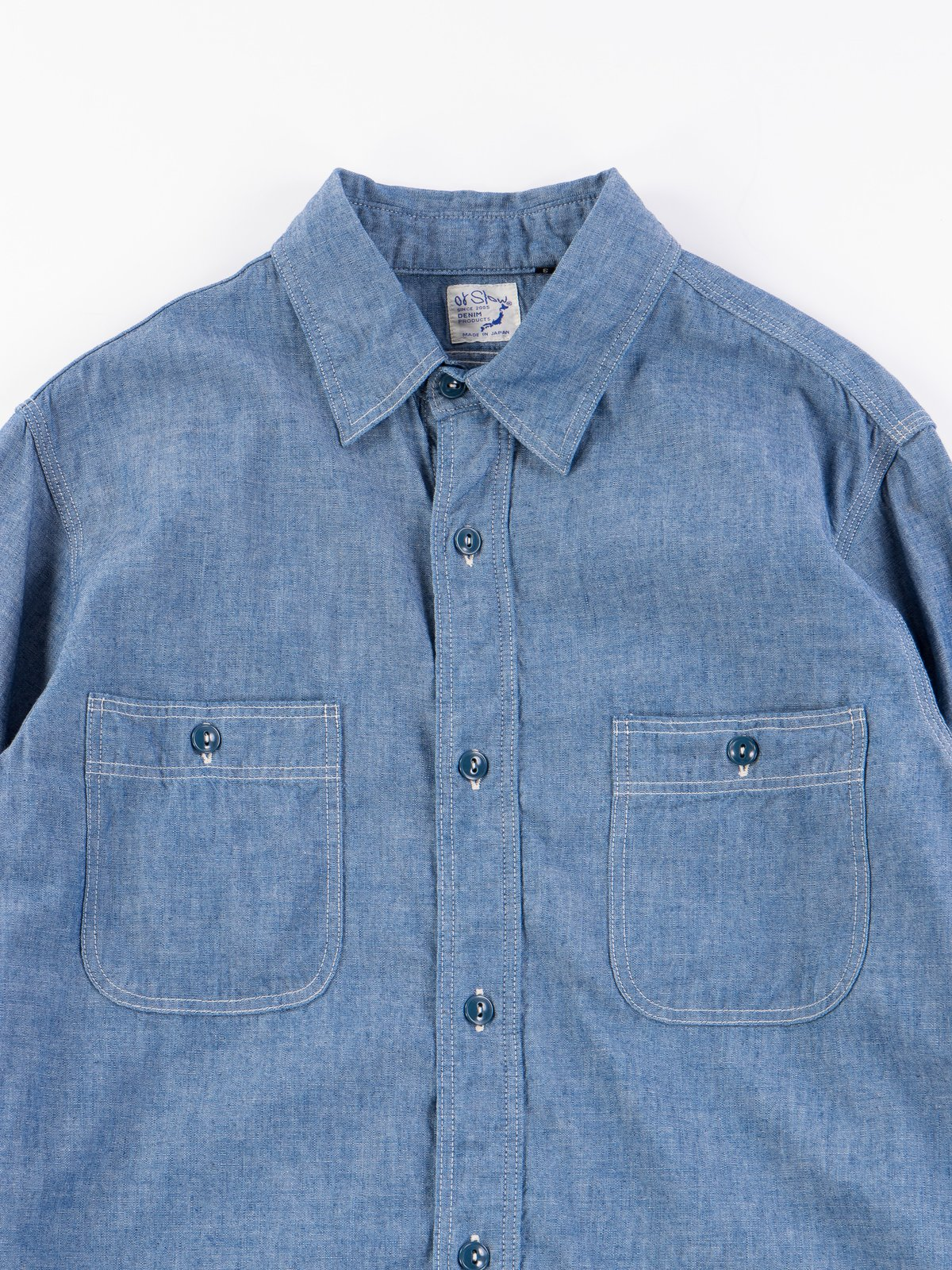 Blue Chambray Work Shirt - Image 3
