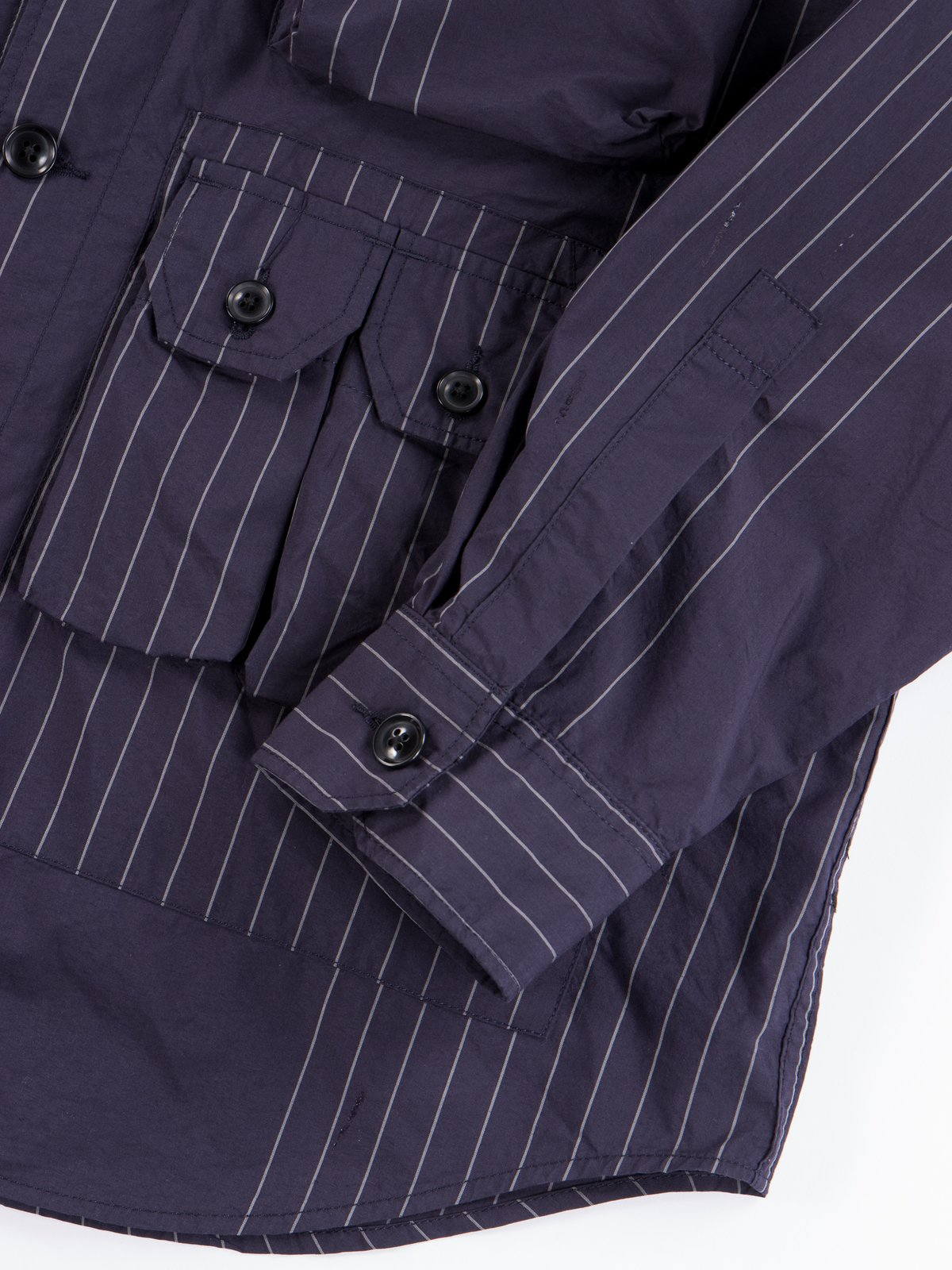 Dark Navy Nyco Gangster Stripe Explorer Shirt Jacket - Image 6