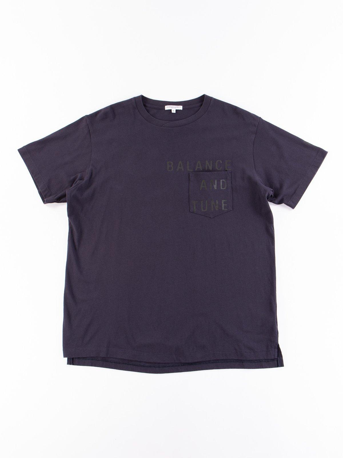 Navy Balance Printed Cross Crew Neck T–Shirt - Image 1