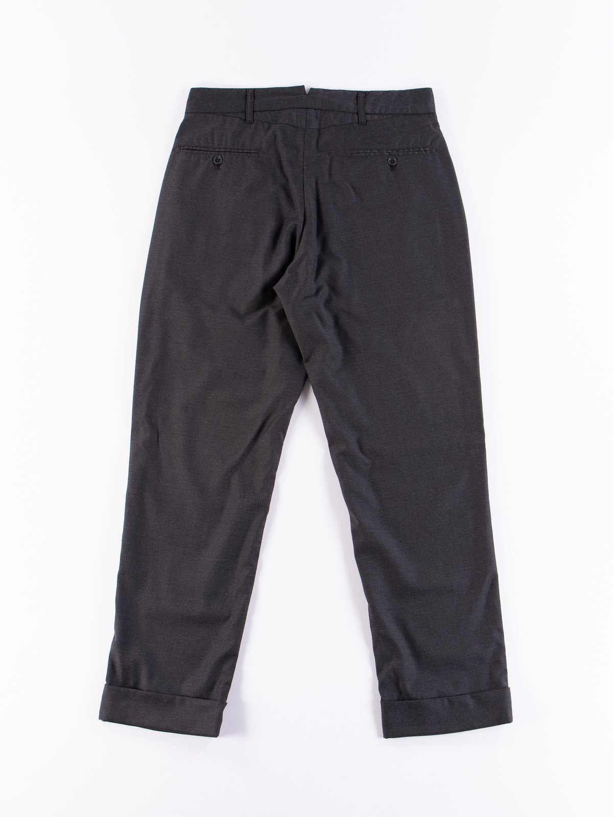 Charcoal Worsted Wool Gabardine Andover Pant - Image 7