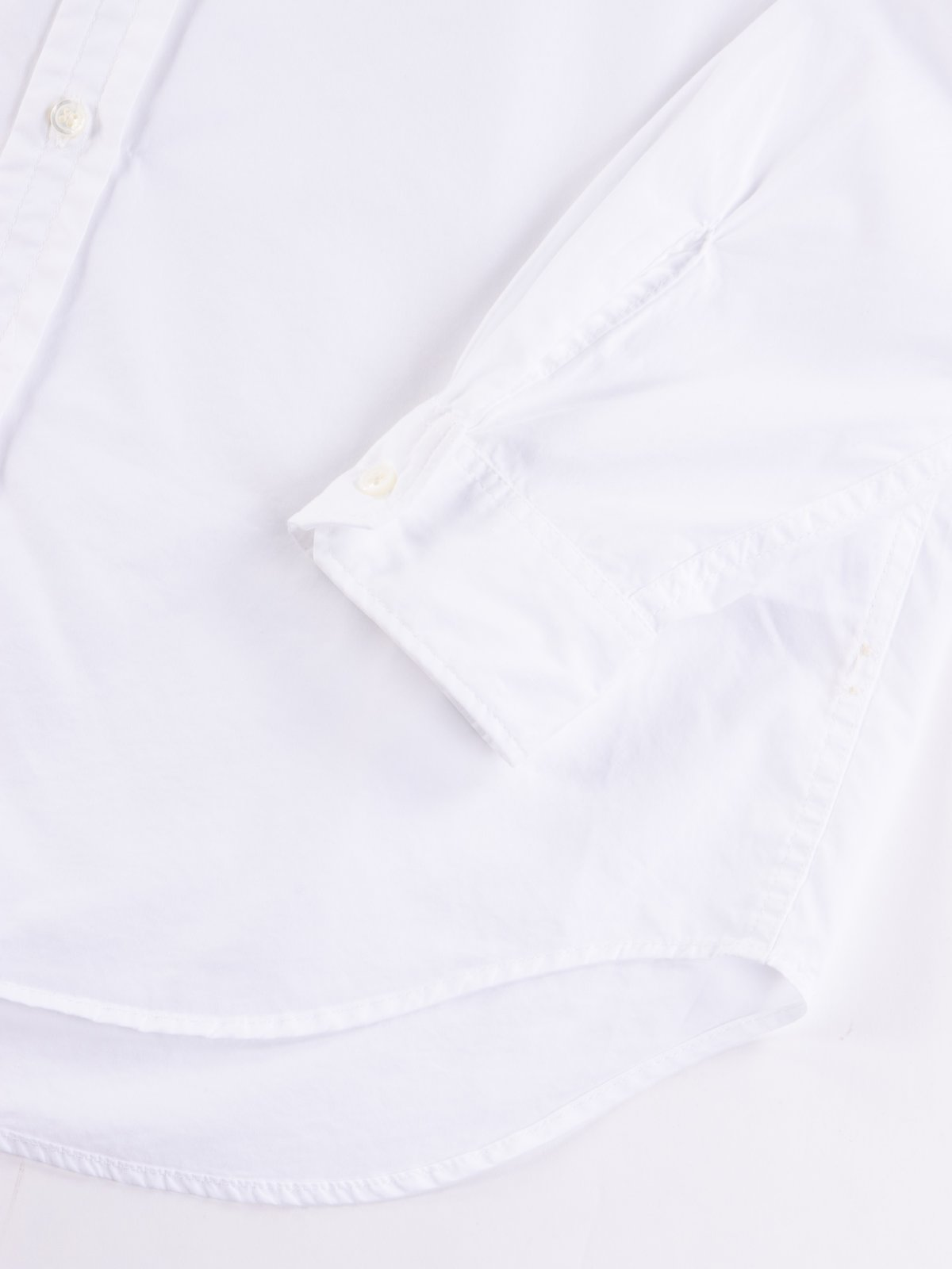 White 100's 2Ply Broadcloth Tab Collar Shirt - Image 4
