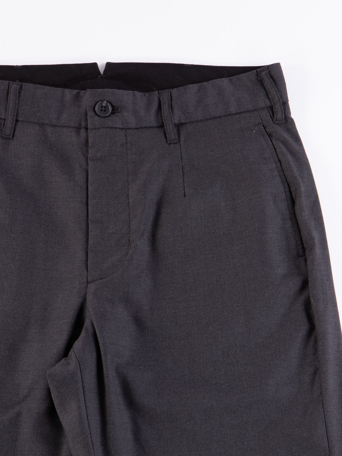 Charcoal Worsted Wool Gabardine Andover Pant - Image 4