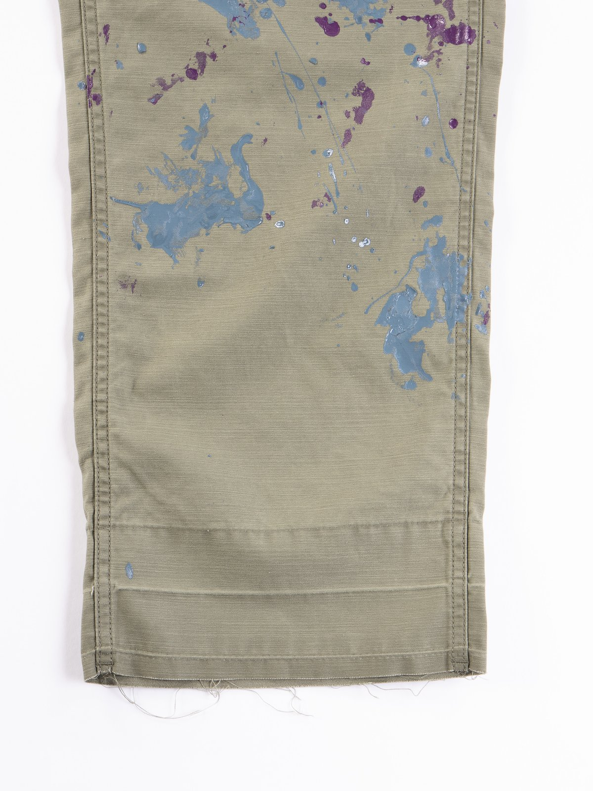 Olive Paint Sateen Fatigue Pant - Image 3