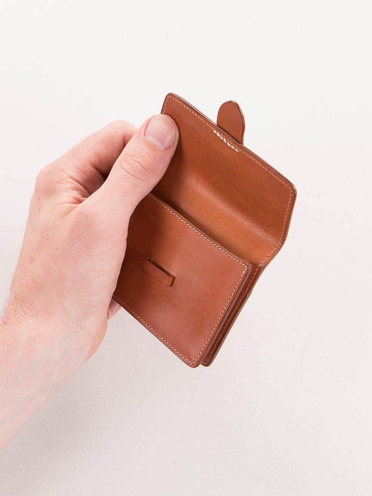 Cognac Italian Calf Small Wallet - Image 4