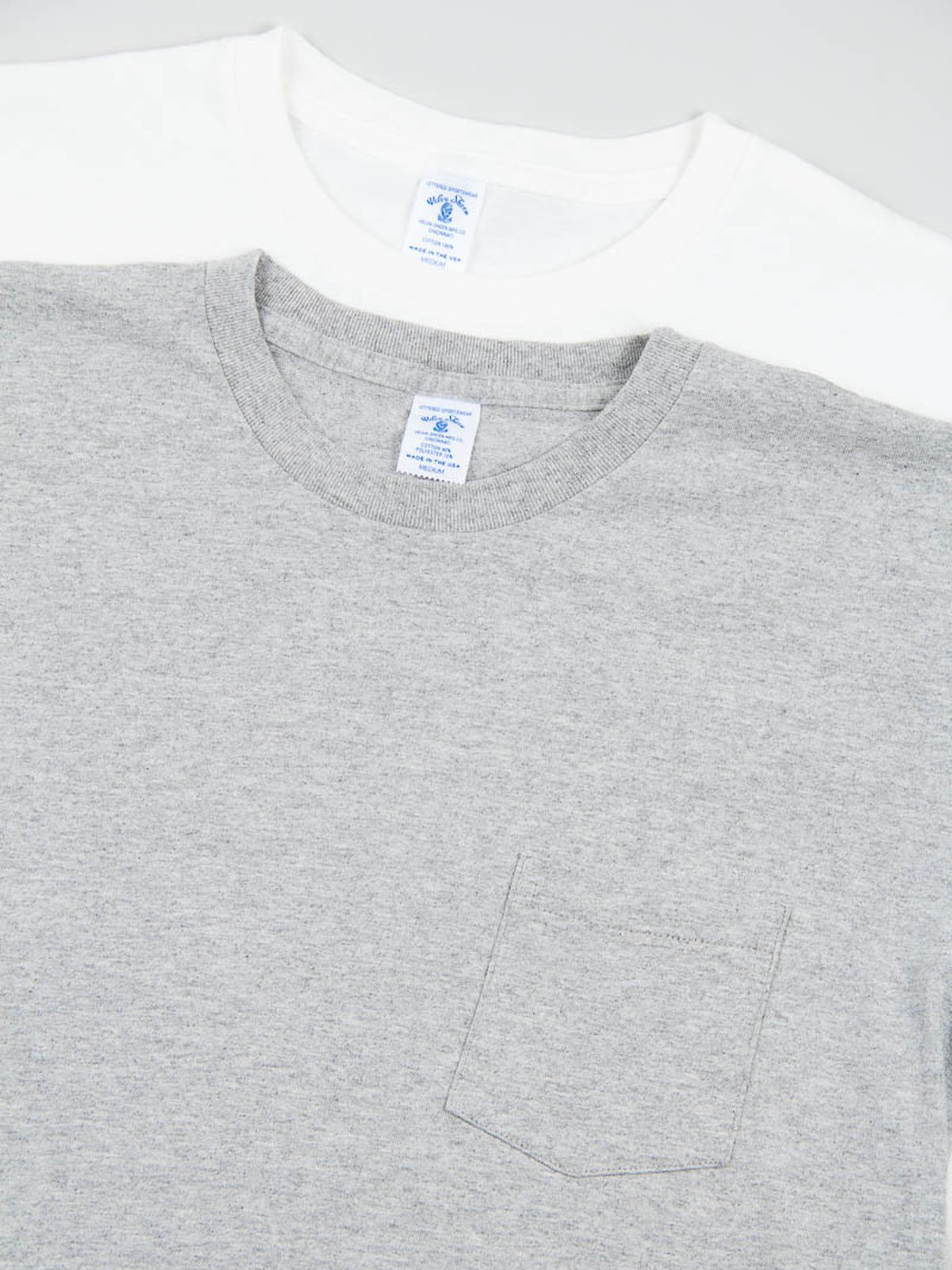 White/Heather Grey 2–Pac Pocket Tees - Image 4