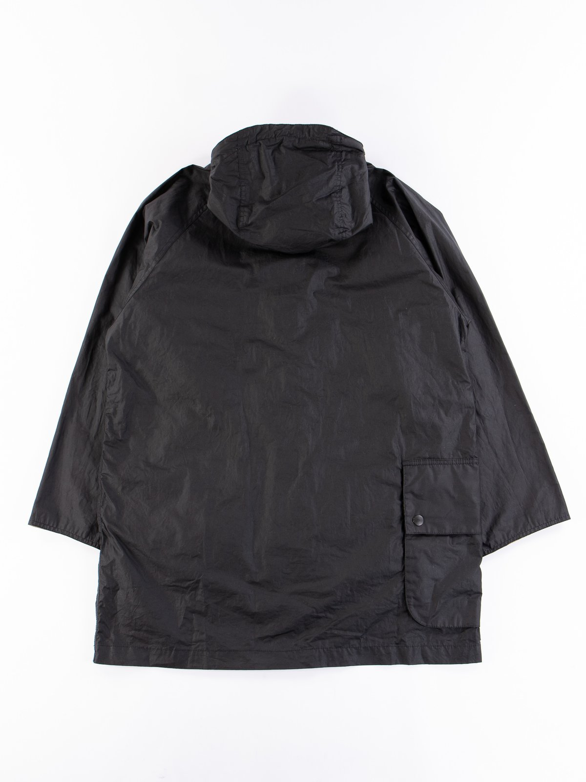 Black Hiking Waxed Cotton Jacket - Image 7