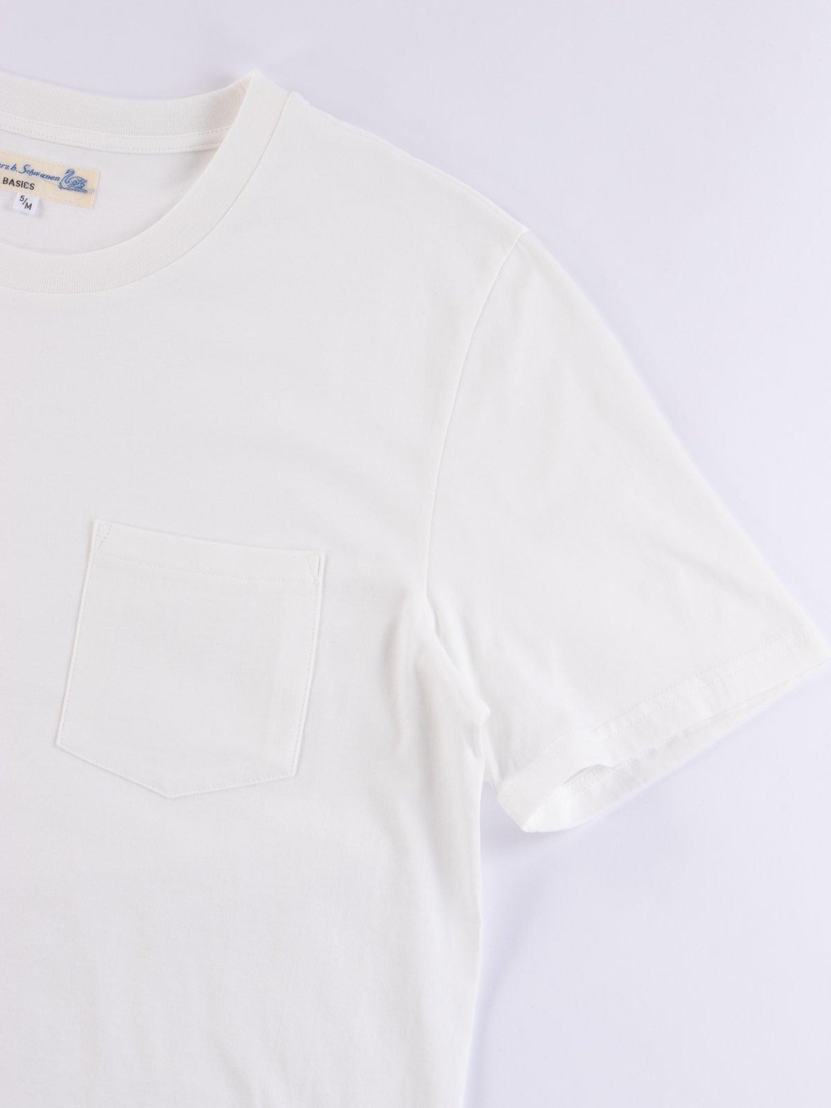 White Good Basics CTP01 Pocket Crew Neck Tee - Image 4