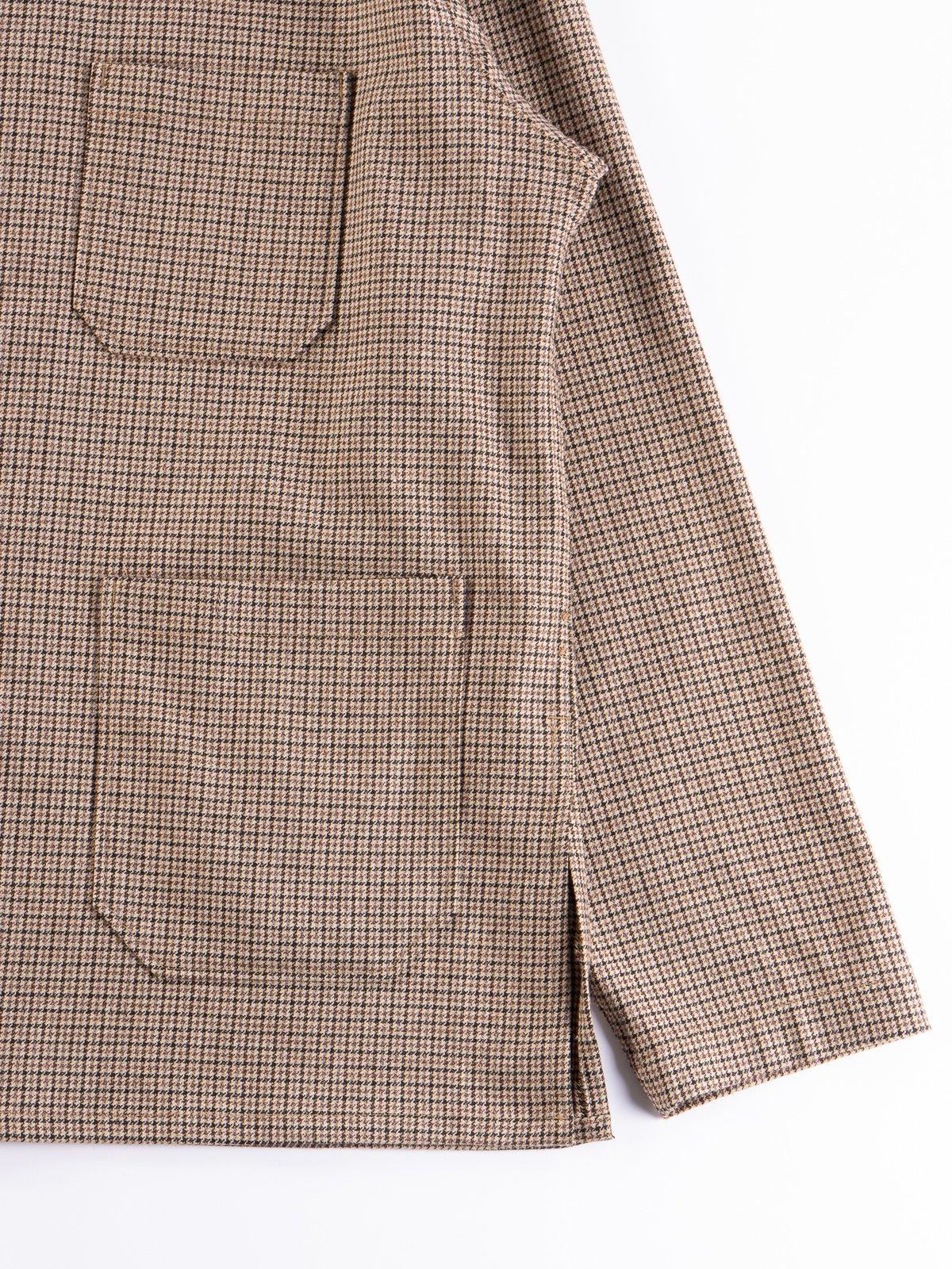 Brown Wool Poly Gunclub Dayton Shirt - Image 4