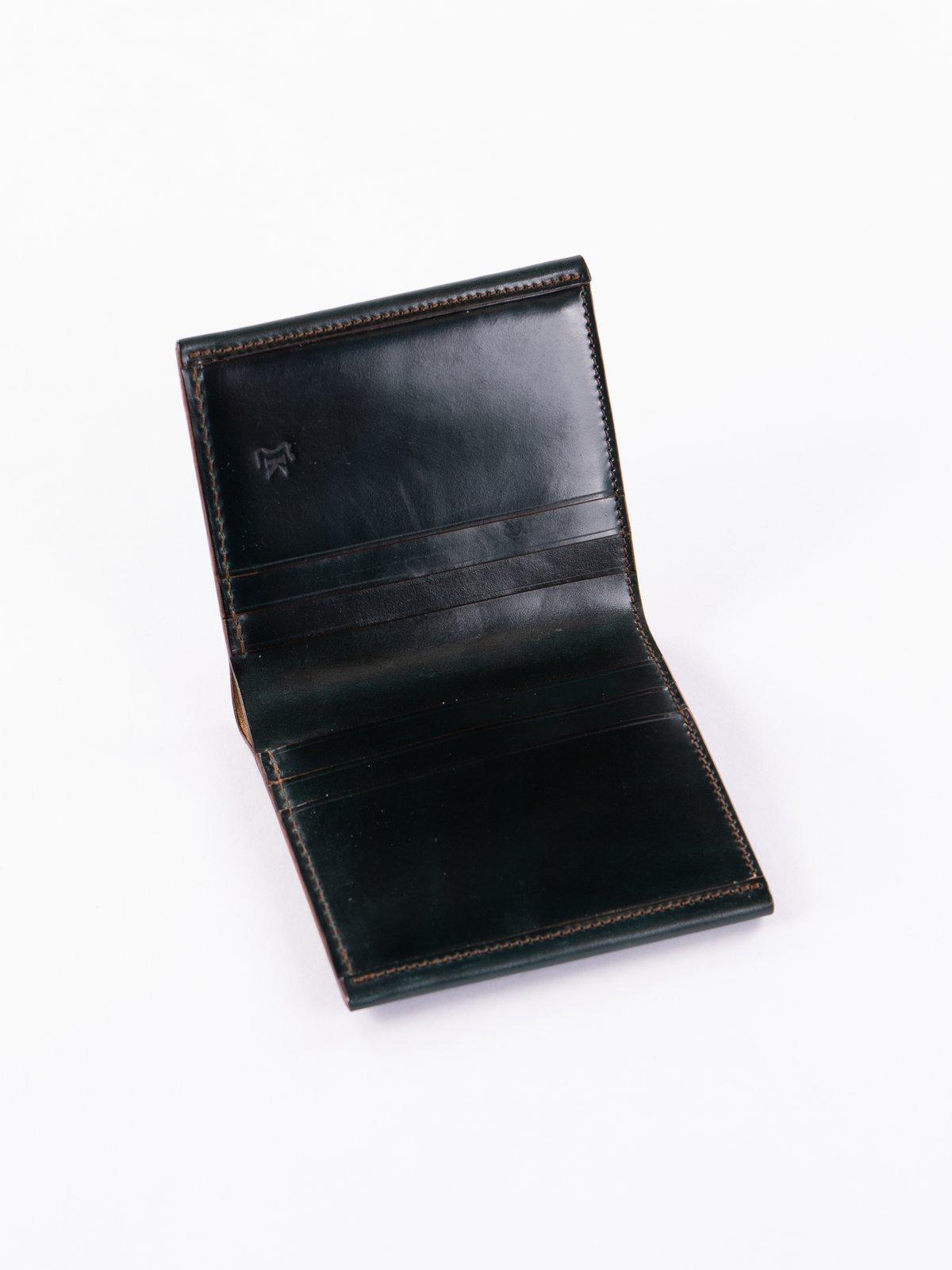 Green Horween Cordovan 3–3 Wallet - Image 2