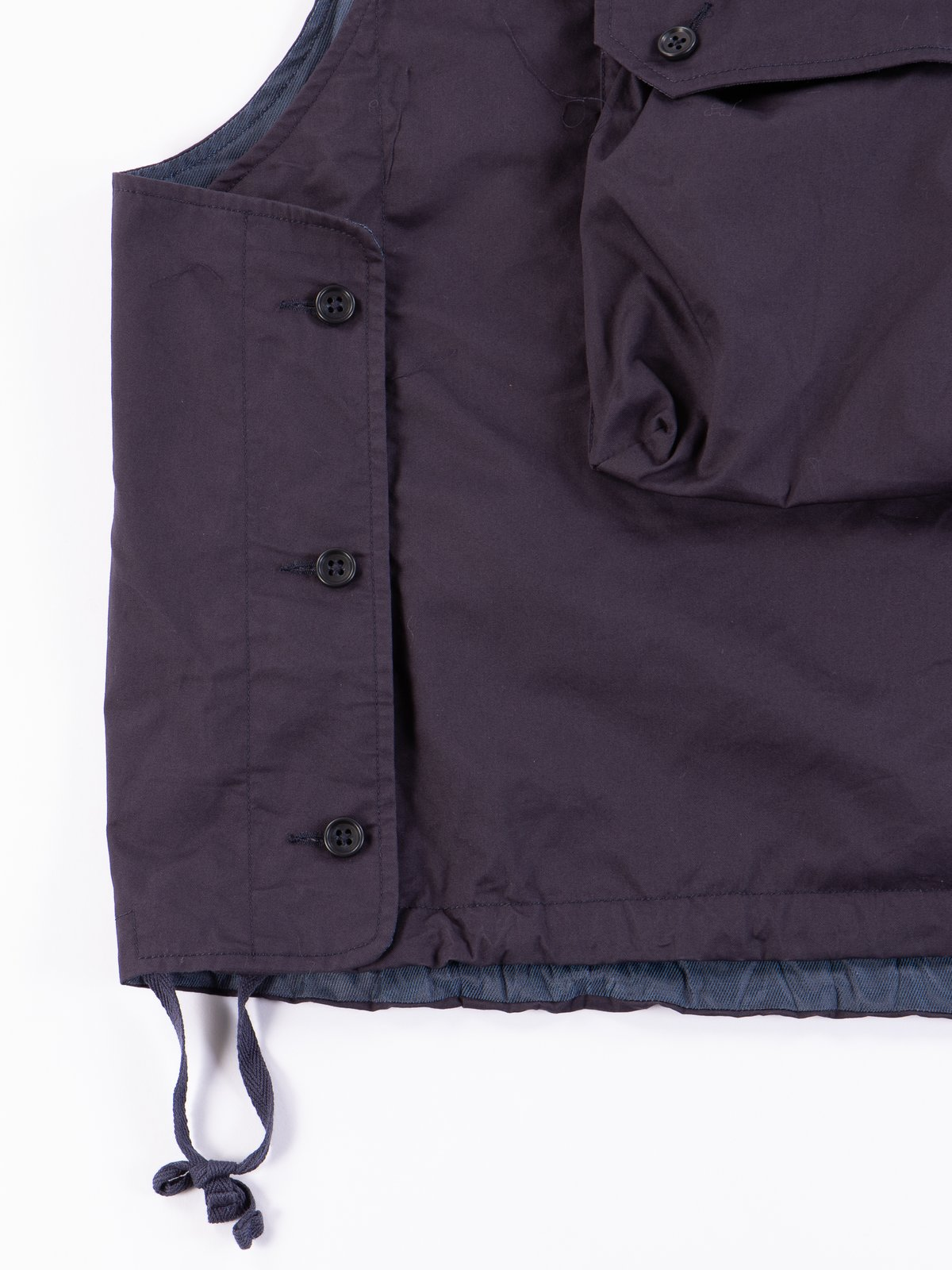 Dark Navy High Count Twill Cover Vest - Image 4