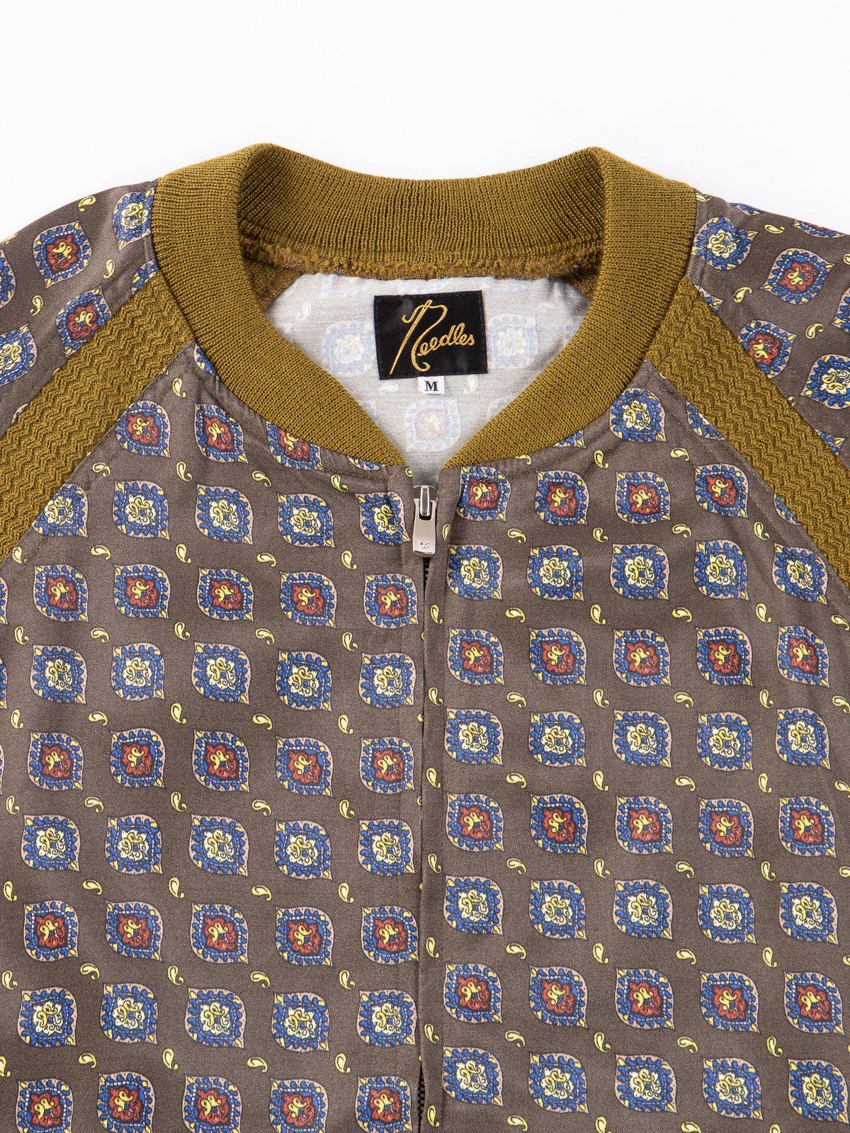 Olive Fine Pattern Sateen W.S.S. Jacket - Image 2