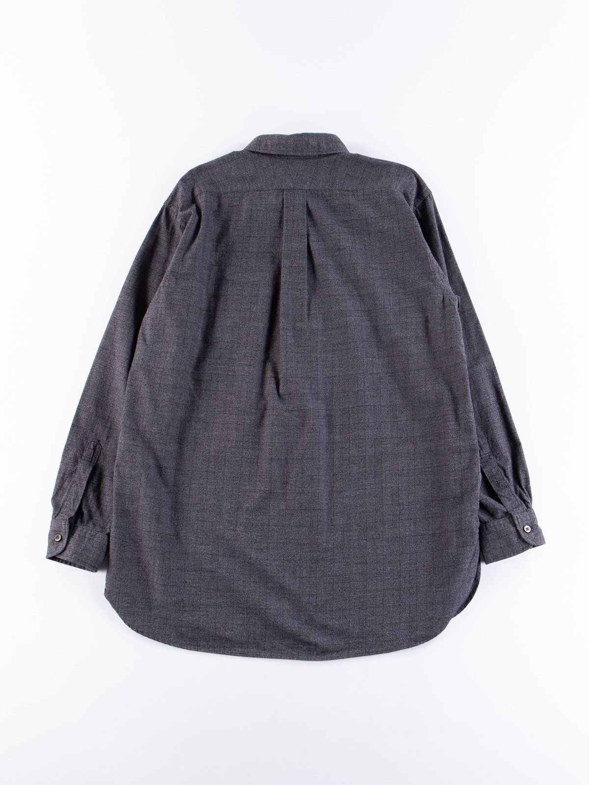 Grey Cotton Glen Plaid 19th Century BD Shirt - Image 5