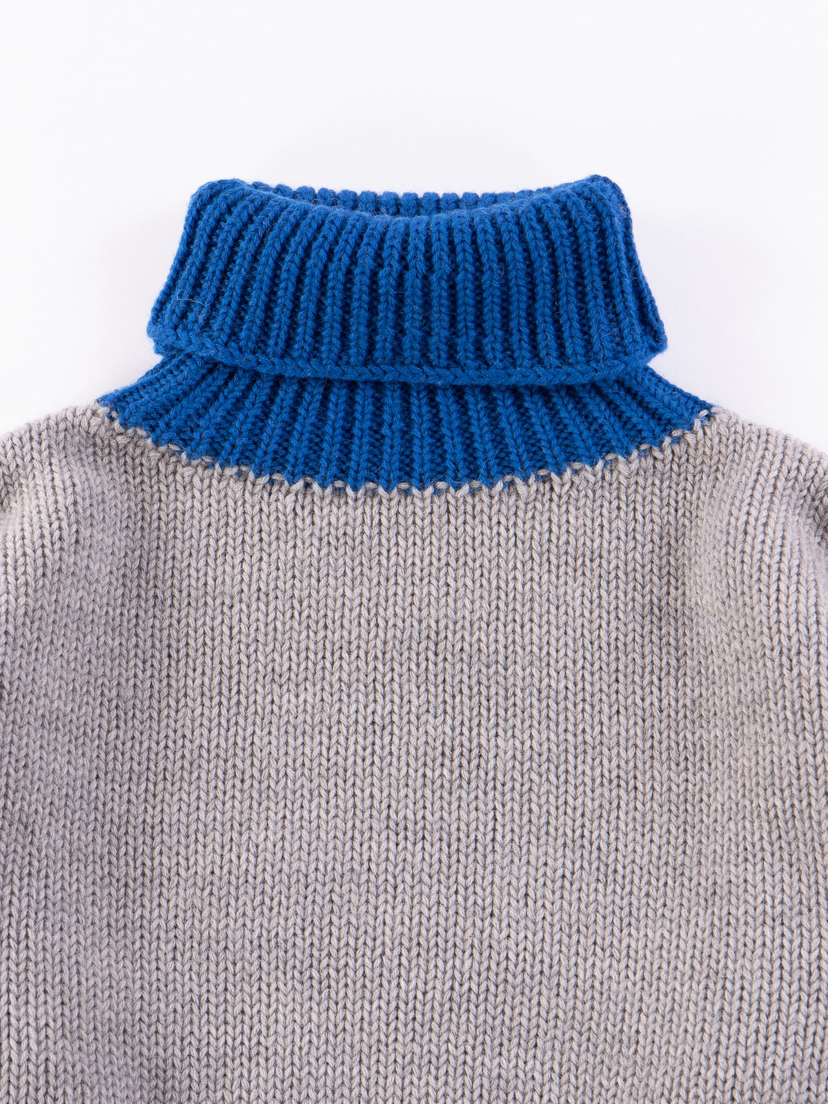 Grey/Navy/Blue George Lowe Roll Neck - Image 3