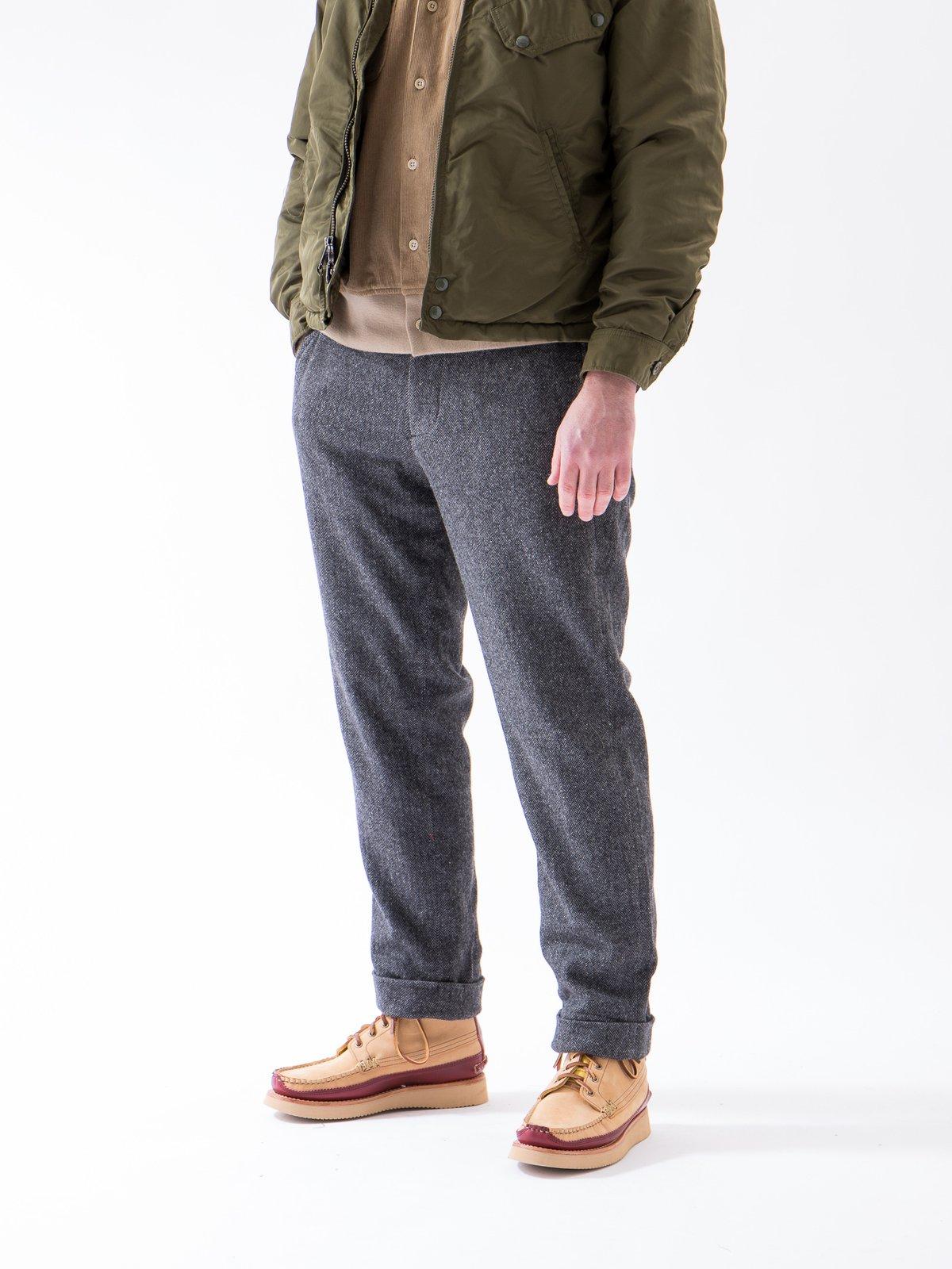 Grey Poly Wool Herringbone Andover Pant - Image 2