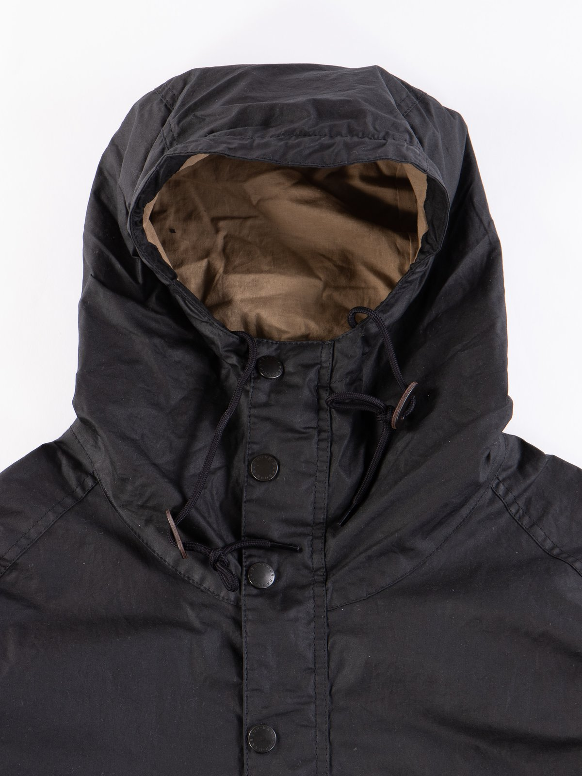 Black Hiking Waxed Cotton Jacket - Image 3
