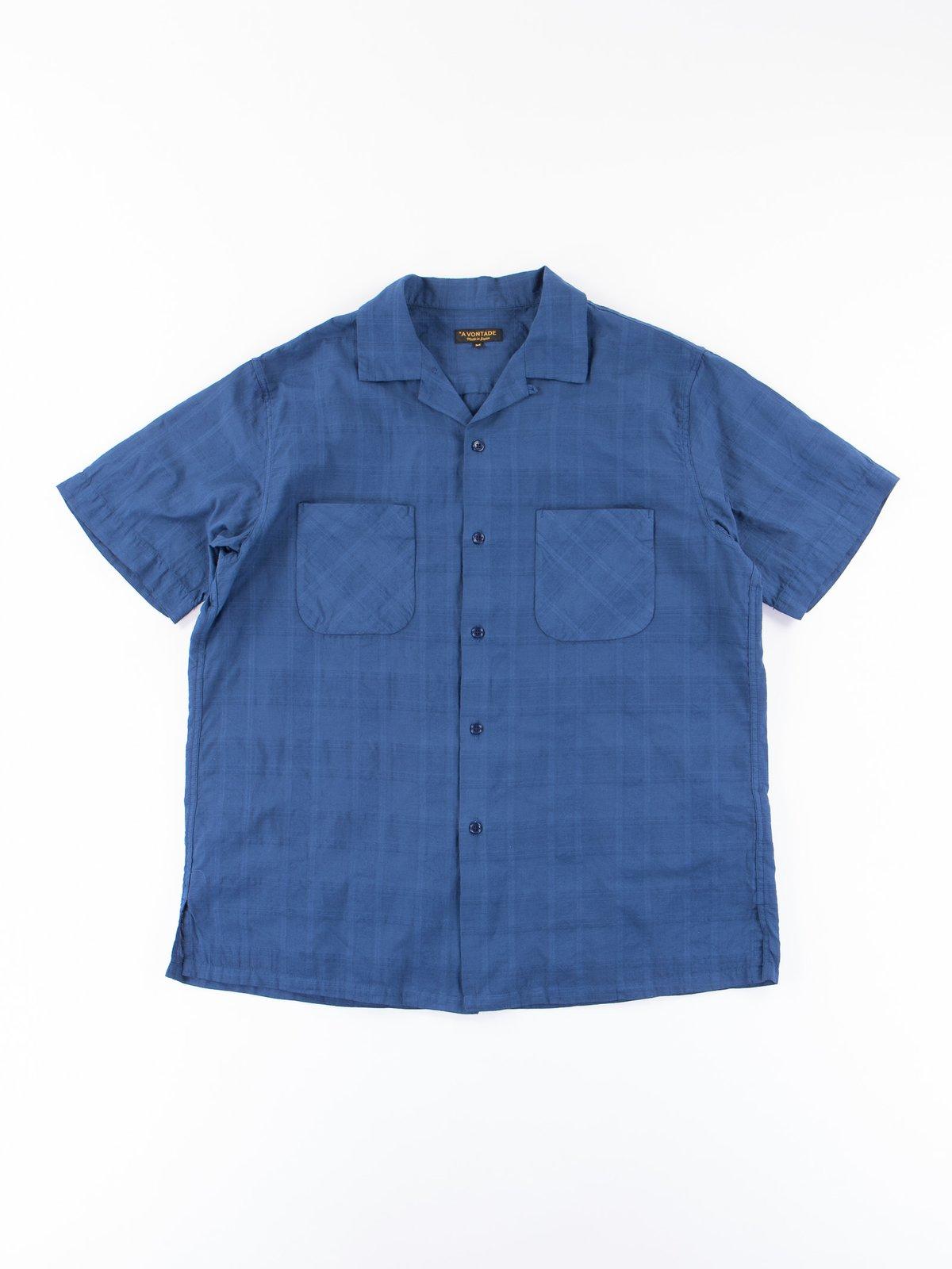 Navy Blue Open SS Shirt - Image 1
