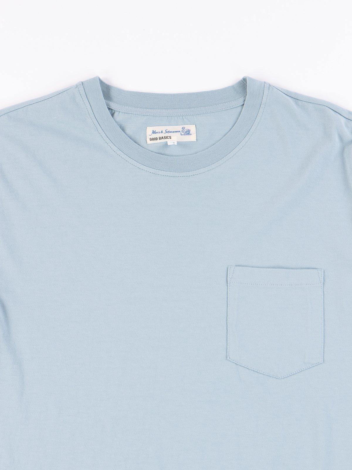Pale Blue Good Basics CTP01 Pocket Crew Neck Tee - Image 3