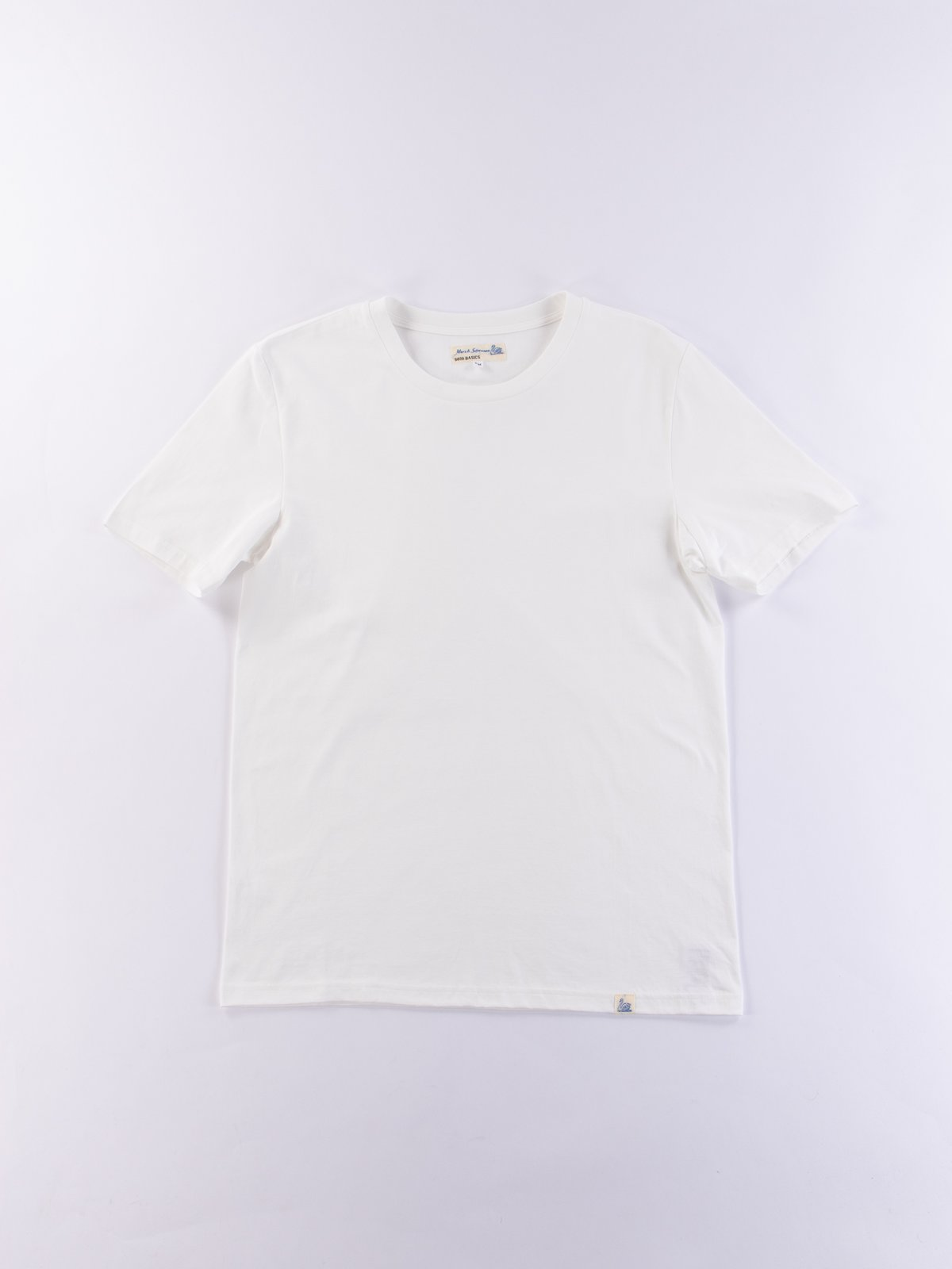 White Good Basics CT01 Crew Neck Tee - Image 1