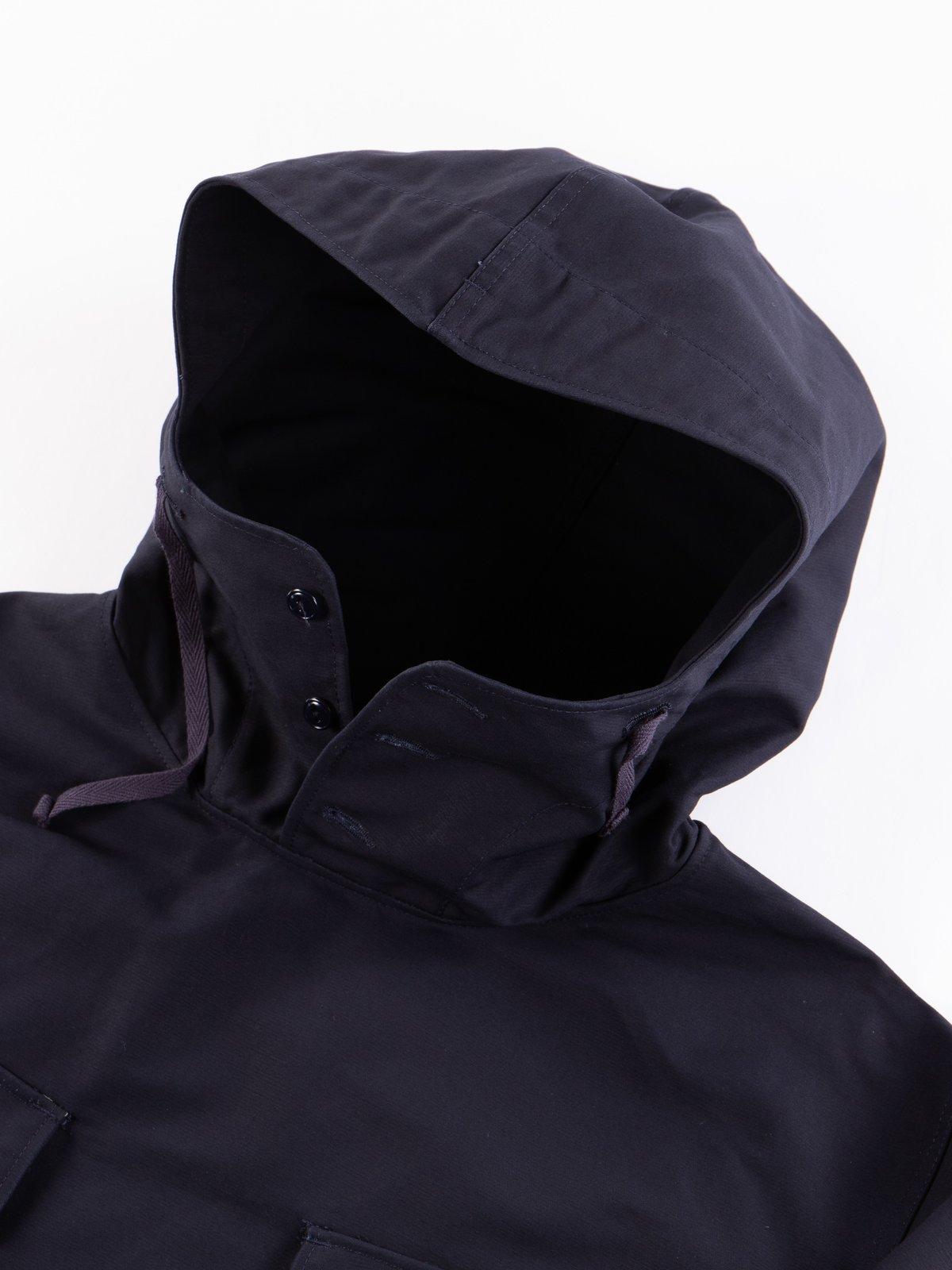 Navy Cotton Double Cloth Cagoule Shirt - Image 5