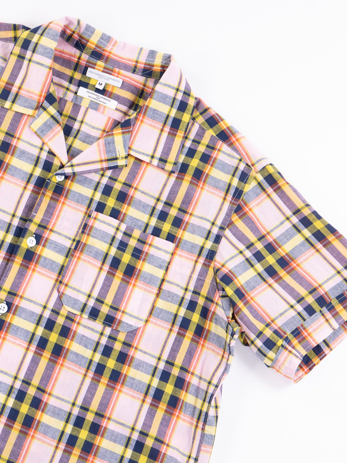 Pink/Yellow CL Madras Plaid Camp Shirt - Image 5