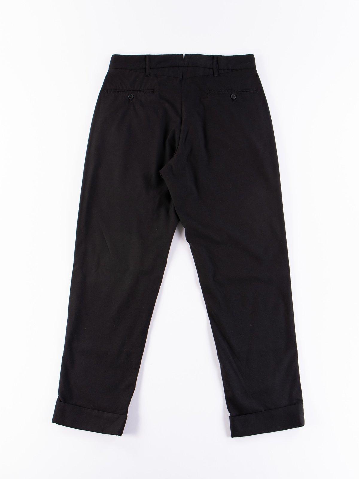 Black Worsted Wool Gabardine Andover Pant - Image 6