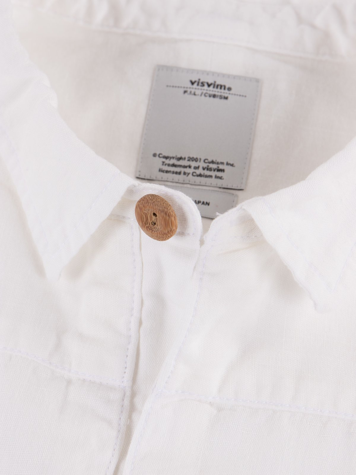 White Chambray Kerchief Tunic Shirt - Image 4