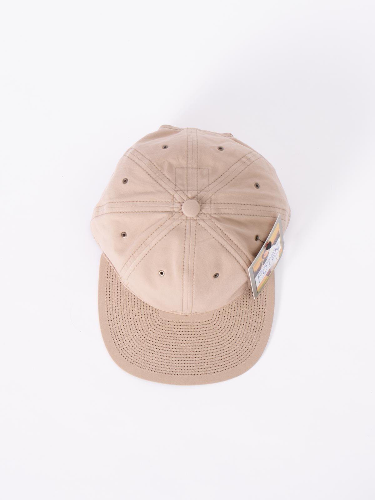 BEIGE WASHED COTTON CAP - Image 3
