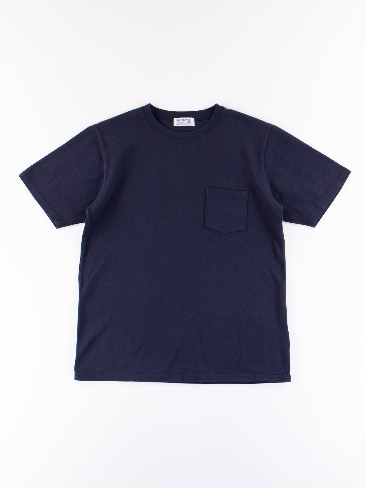 Navy Heavy Oz Pocket Tee - Image 1