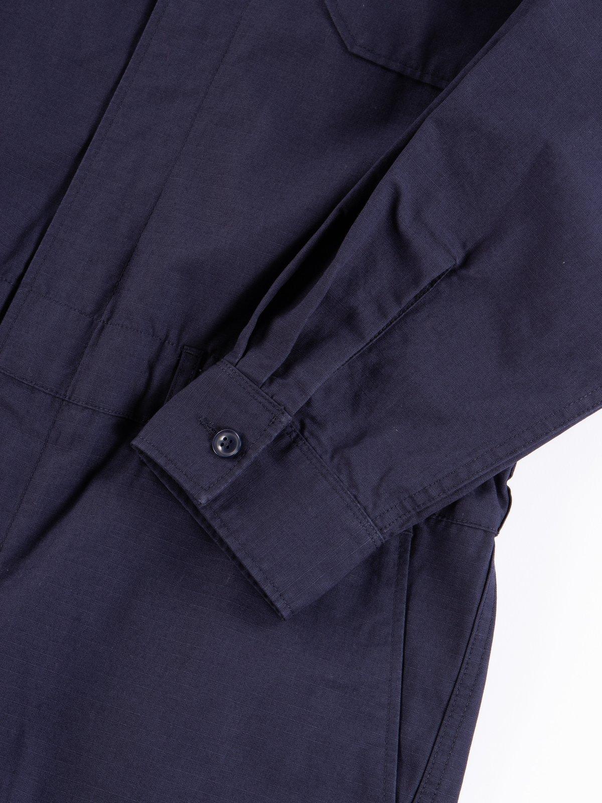Dark Navy Cotton Ripstop Boiler Suit - Image 5