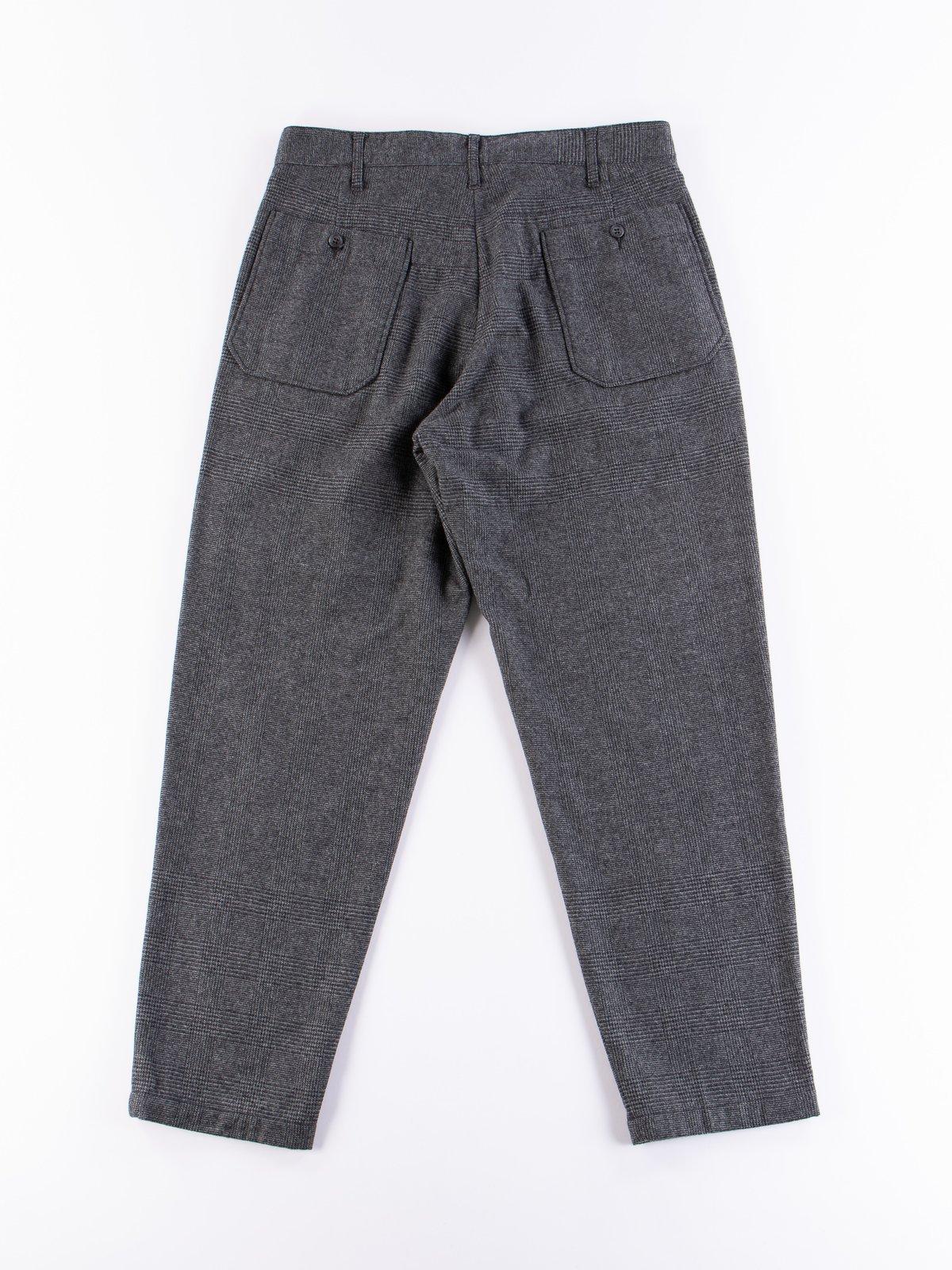 Grey Wool Glen Plaid Stripe Carlyle Pant - Image 5