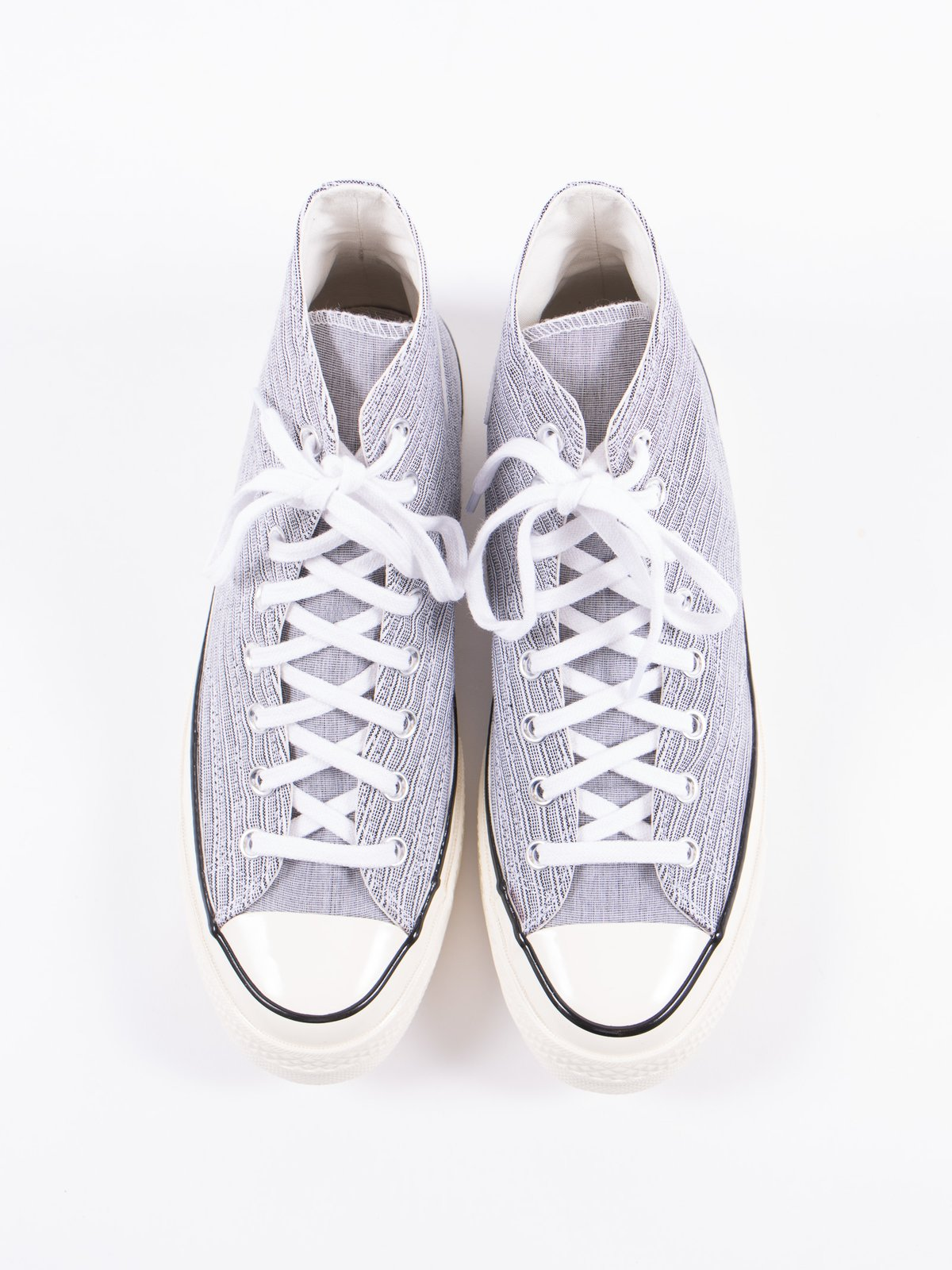 White/Black Poplin Shirt Chuck Taylor All Star 70s Hi - Image 5
