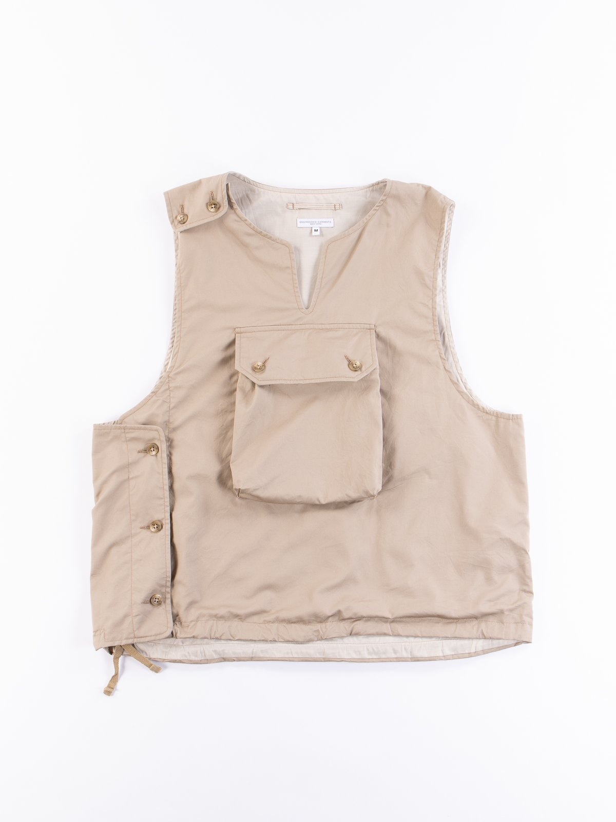 Khaki High Count Twill Cover Vest - Image 1