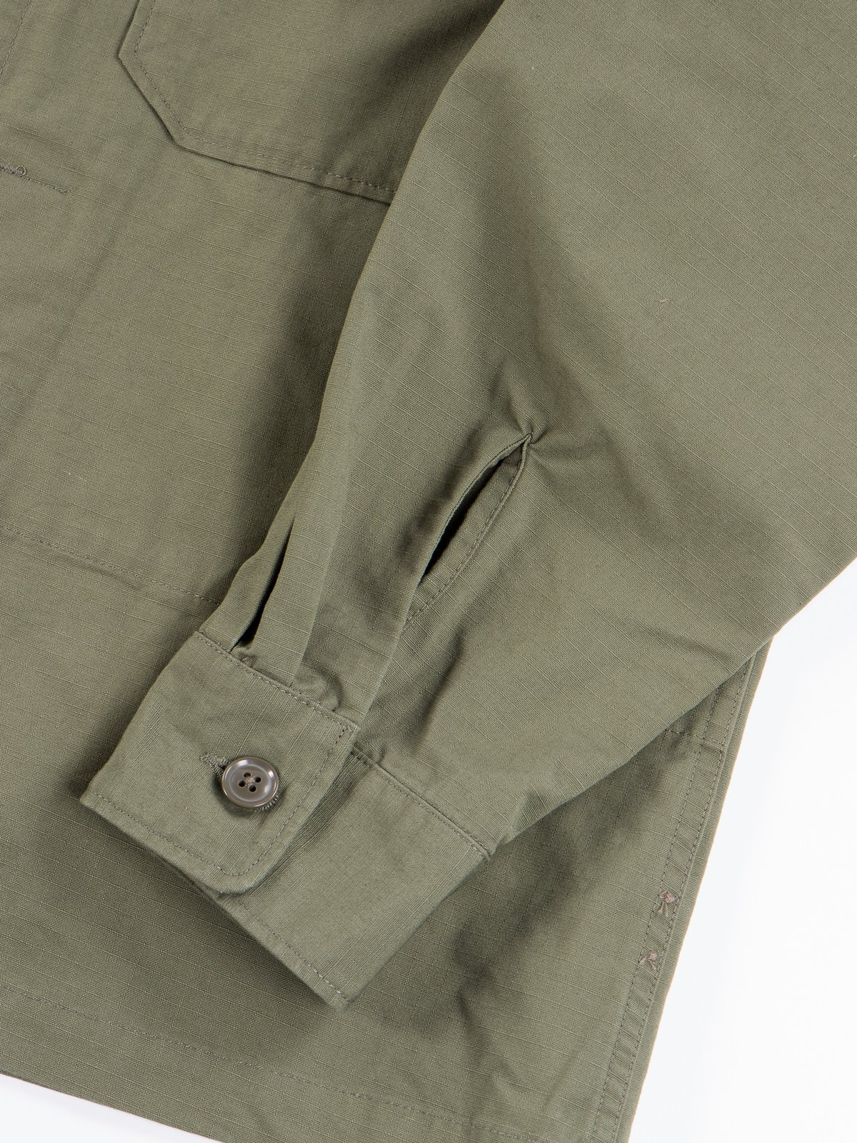 Olive Cotton Ripstop MC Shirt Jacket - Image 5