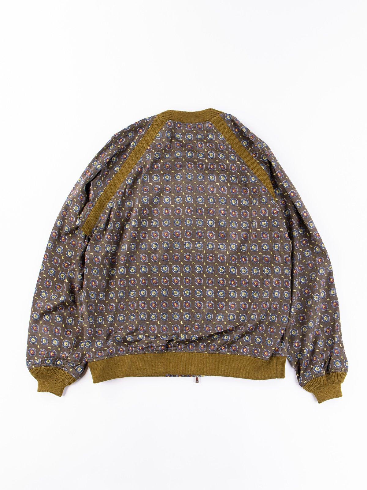 Olive Fine Pattern Sateen W.S.S. Jacket - Image 5