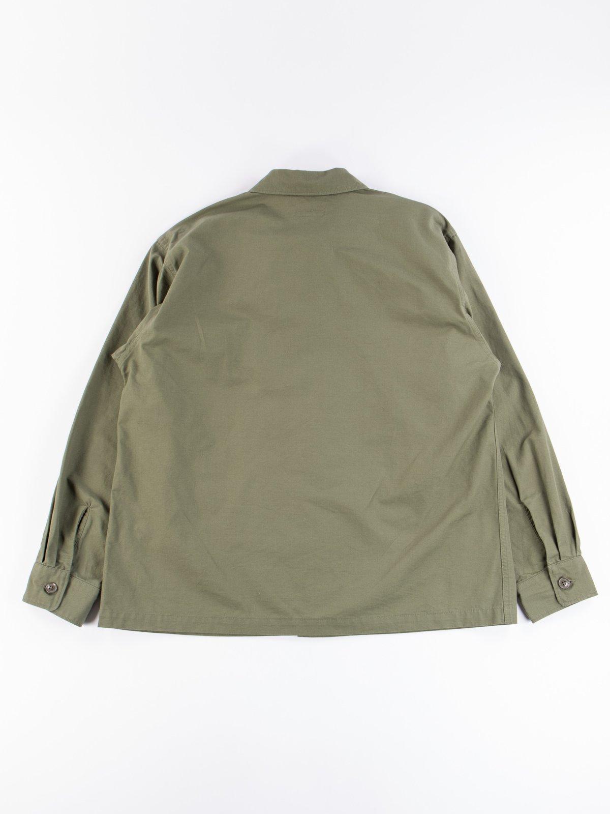 Olive Cotton Ripstop MC Shirt Jacket - Image 7