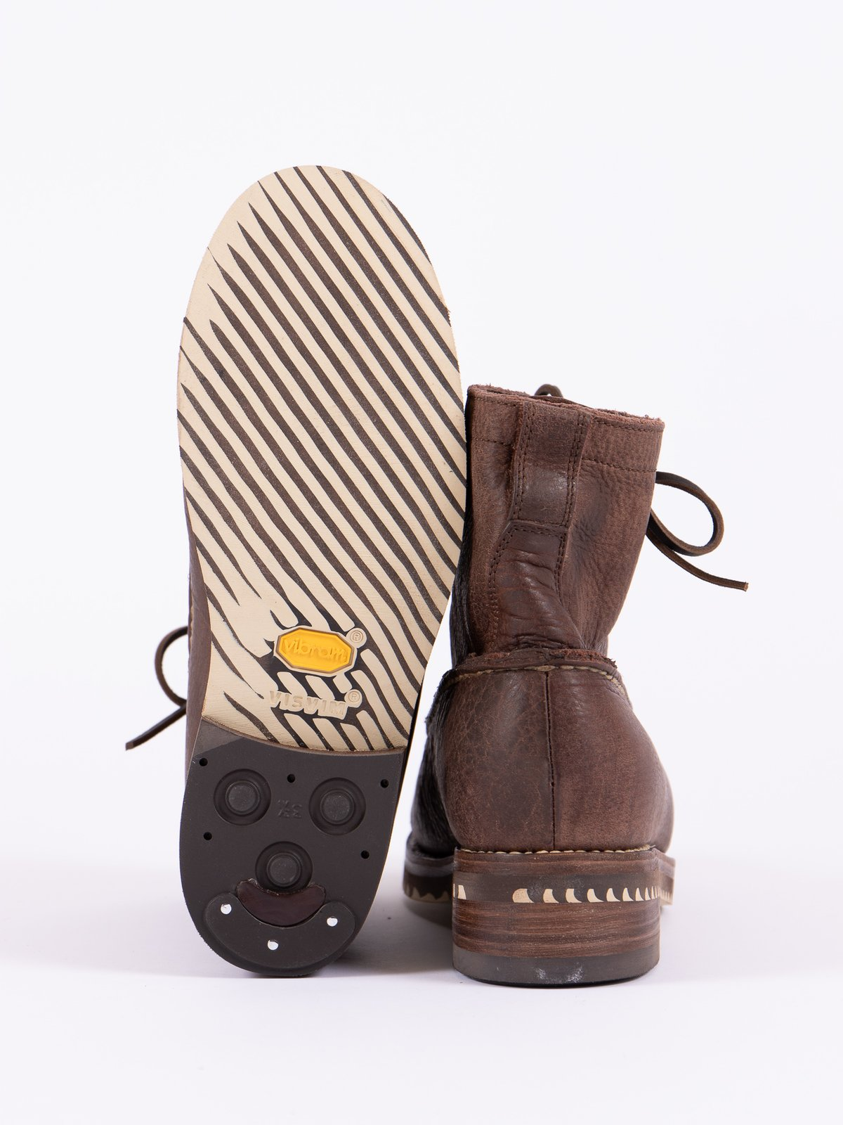 Dark Brown Kainai Moc Toe–Folk - Image 5