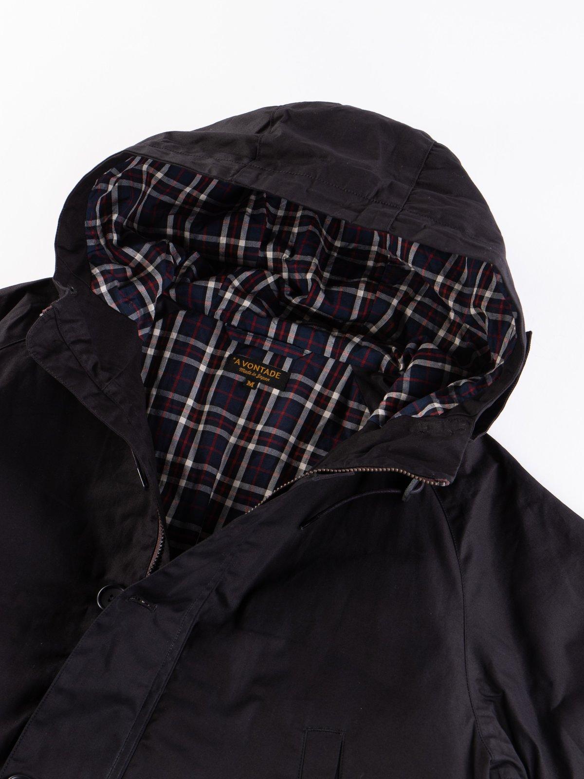Black British Field Hooded Jacket - Image 4