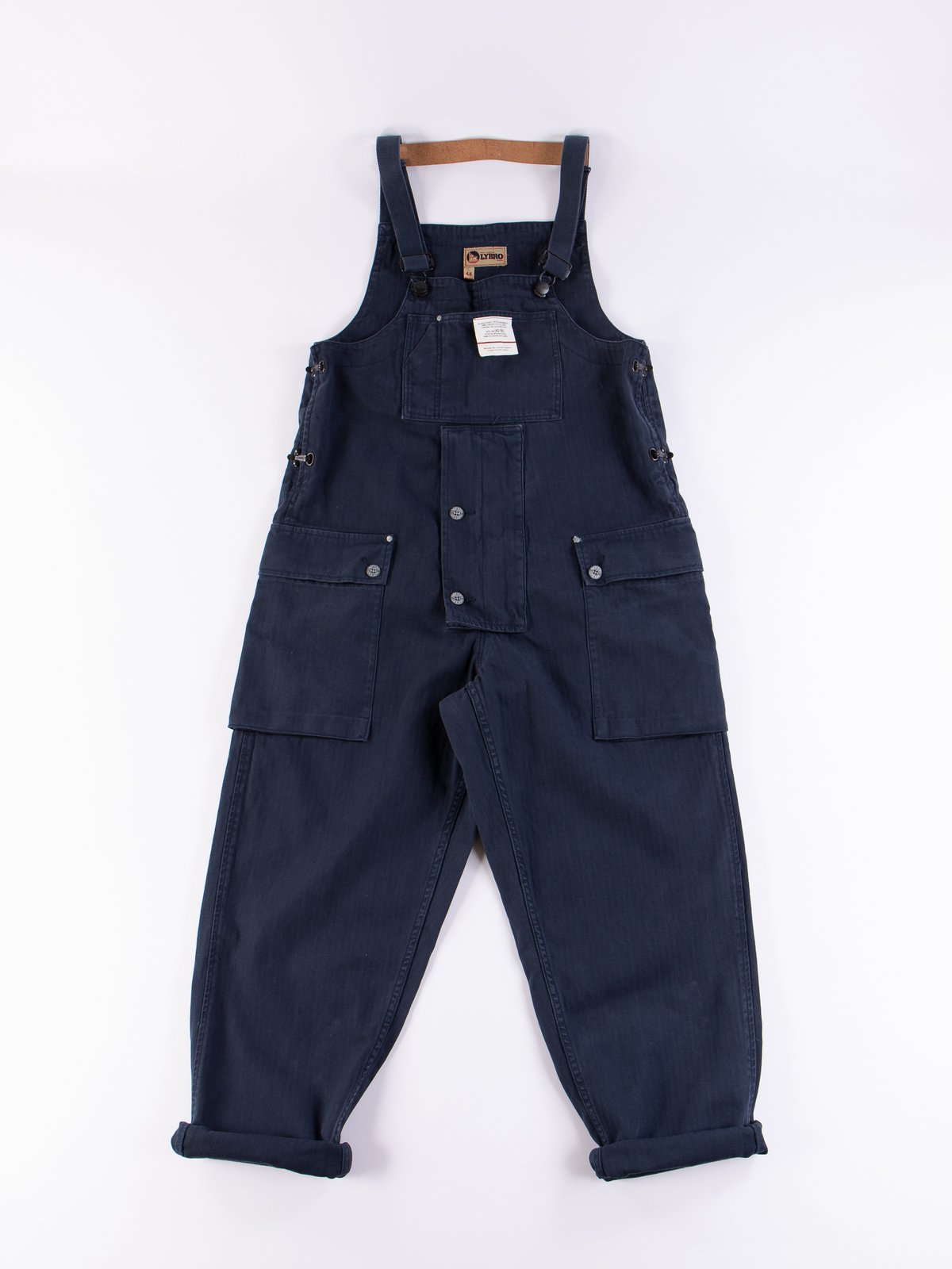 f148c6b0154268 Lybro Black Navy Naval Dungaree by Nigel Cabourn – The Bureau ...