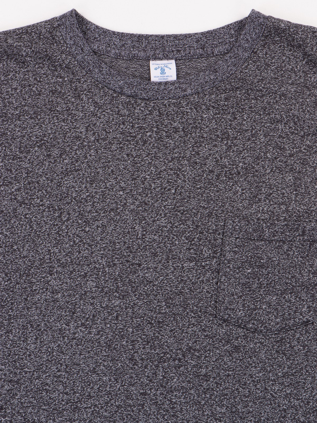 Heather Black 1–Pac Pocket Tee - Image 3
