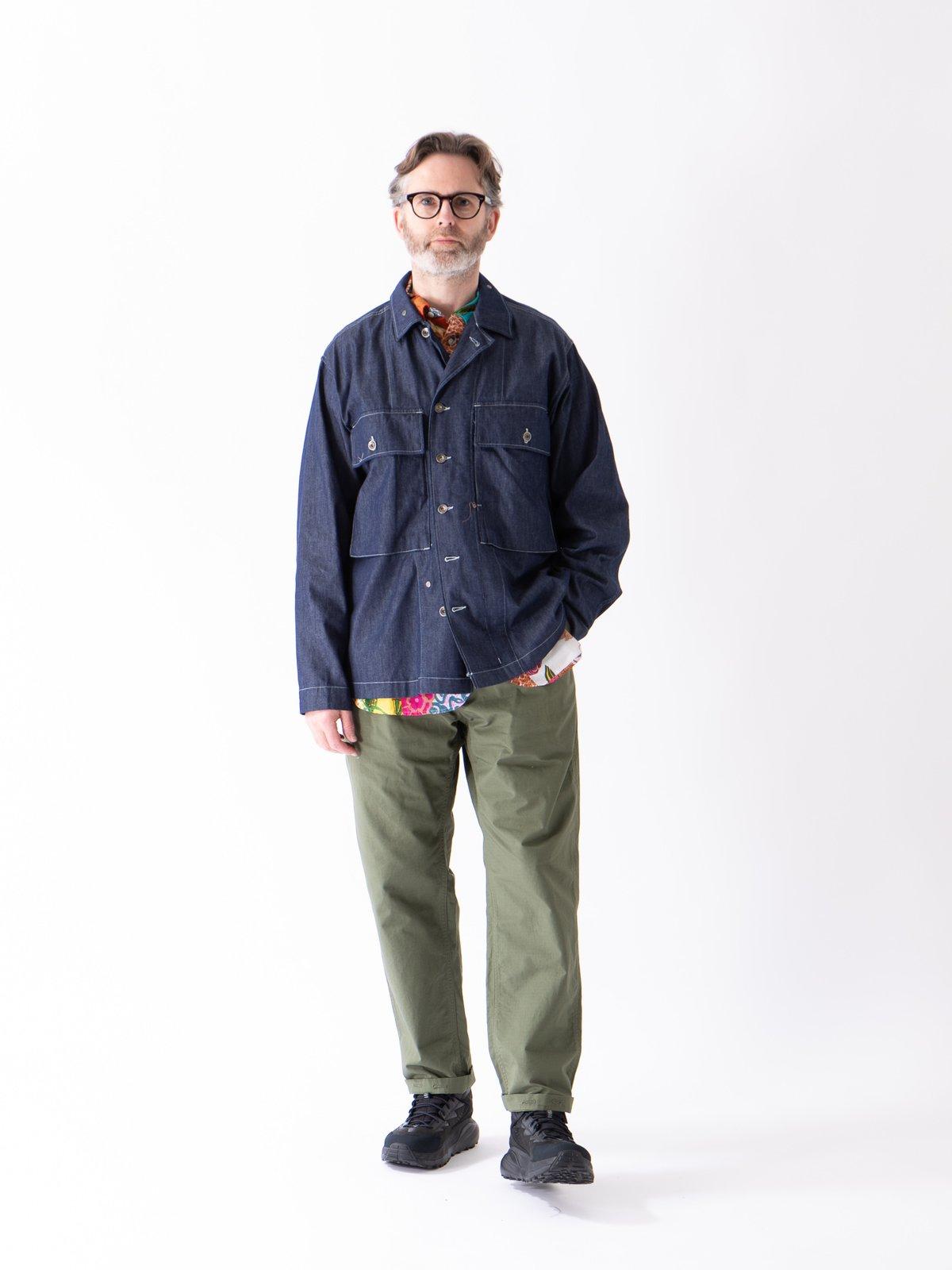 Indigo 8oz Cone Denim M43/2 Shirt Jacket - Image 2