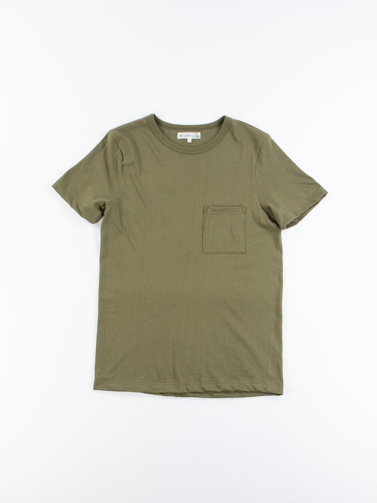 Army 1950s Organic Pocket Tee - Image 1
